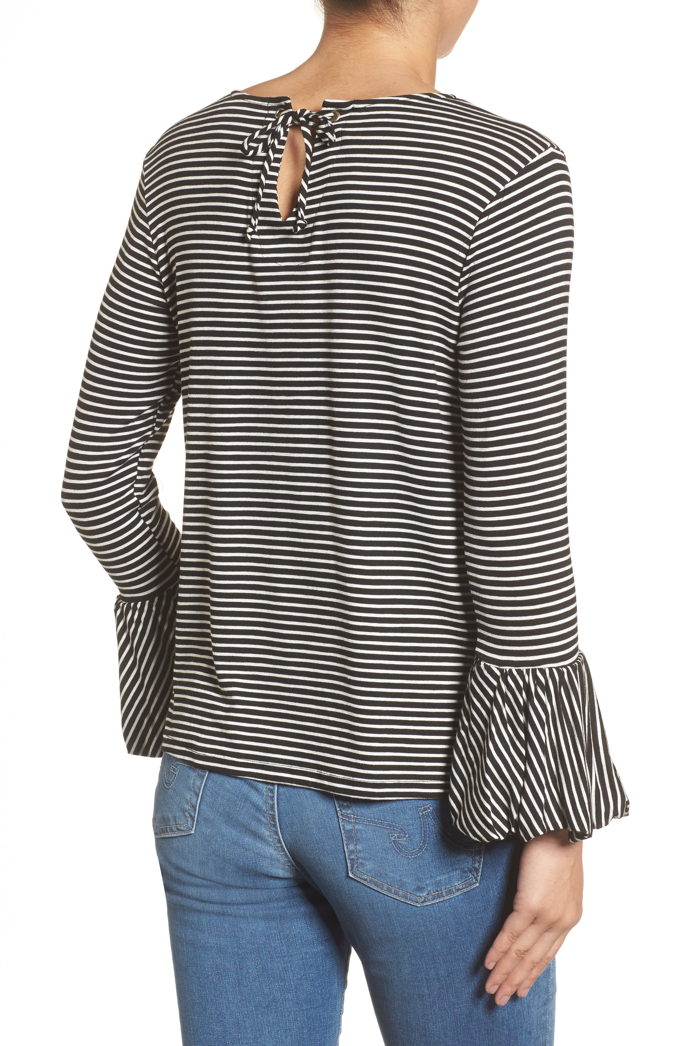Bell Sleeve Top,                             Alternate thumbnail 2, color,                             003