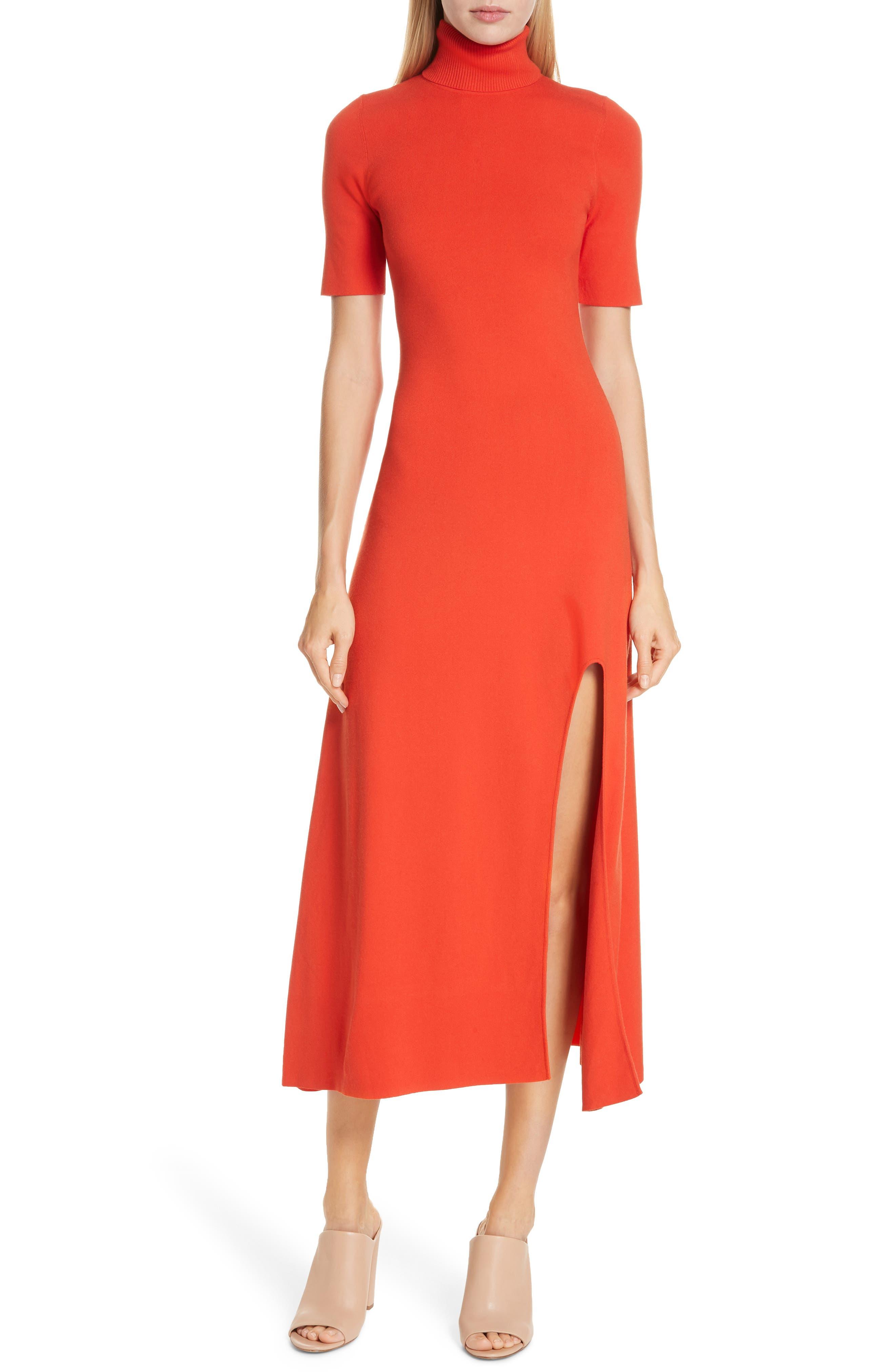 A.l.c. Caplan Slit Midi Dress, Orange