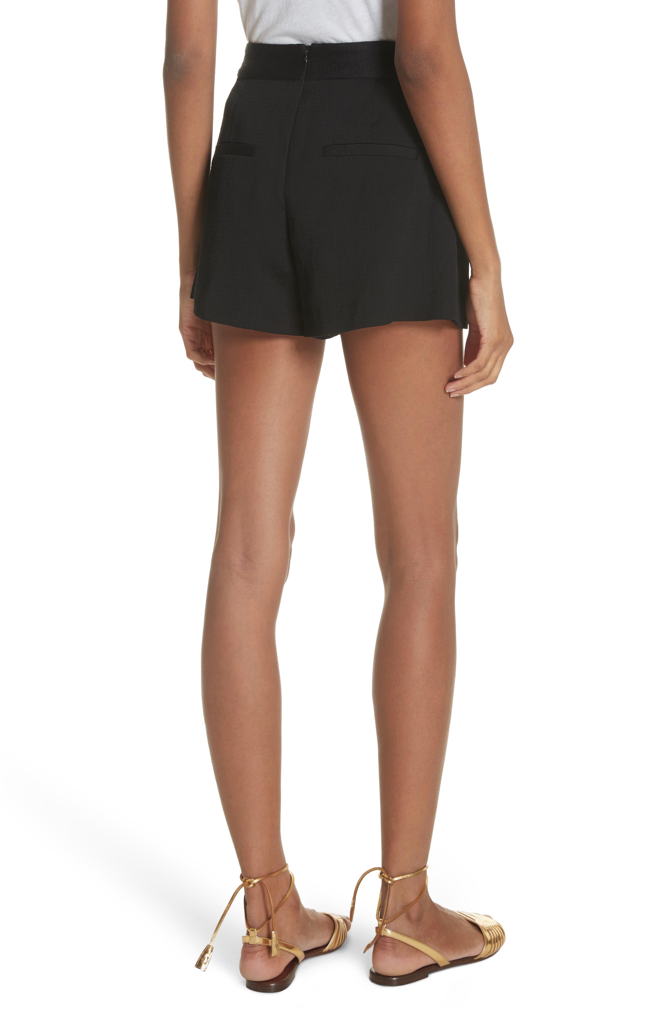 Lulu Lace-Up Shorts,                             Alternate thumbnail 2, color,                             001