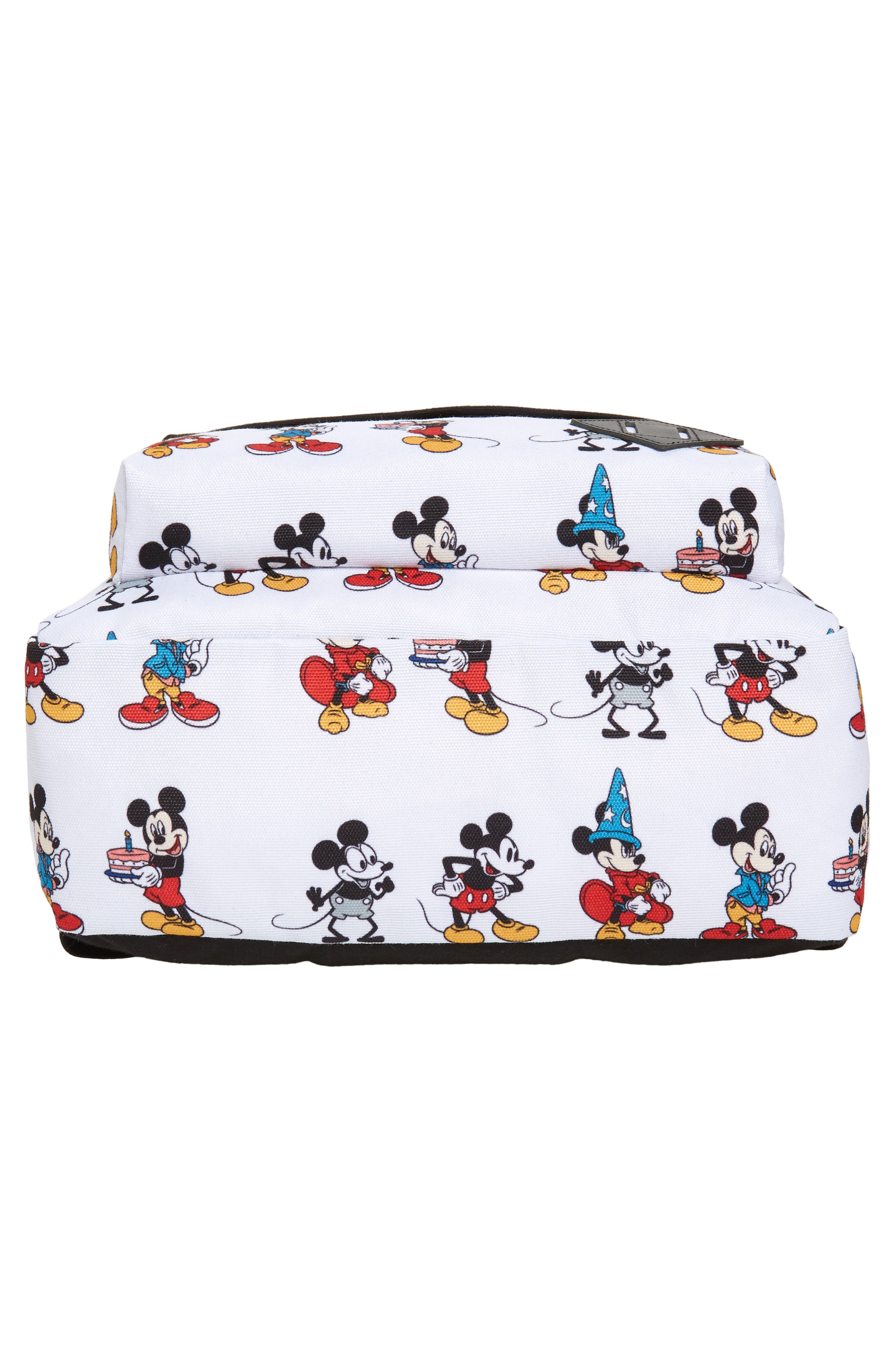 x Disney Mickey's 90th Anniversary - Mickey Through the Ages Backpack,                             Alternate thumbnail 6, color,                             WHITE