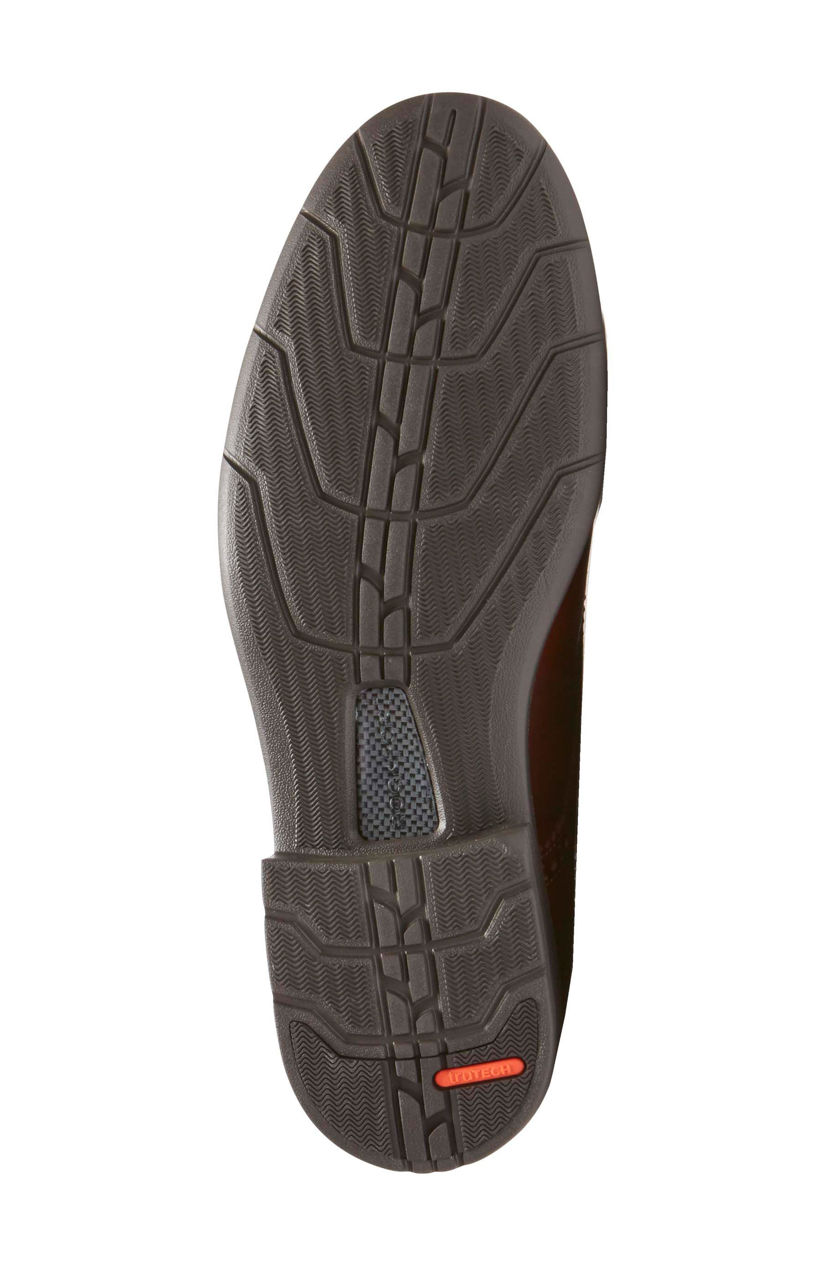 Total Motion Classic Plain Toe Derby,                             Alternate thumbnail 6, color,                             NEW BROWN LEATHER