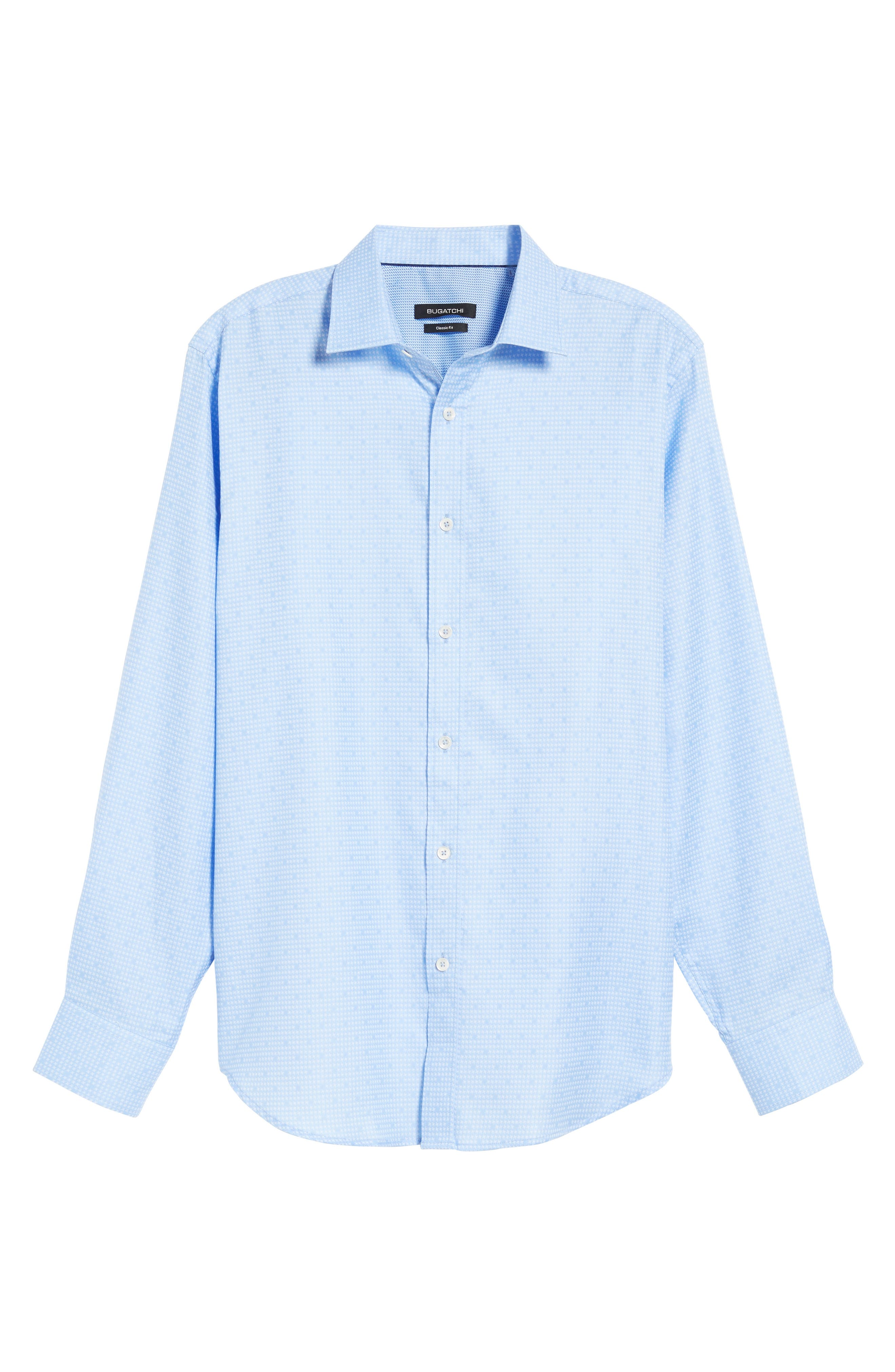 Classic Fit Houndstooth Sport Shirt,                             Alternate thumbnail 6, color,                             459