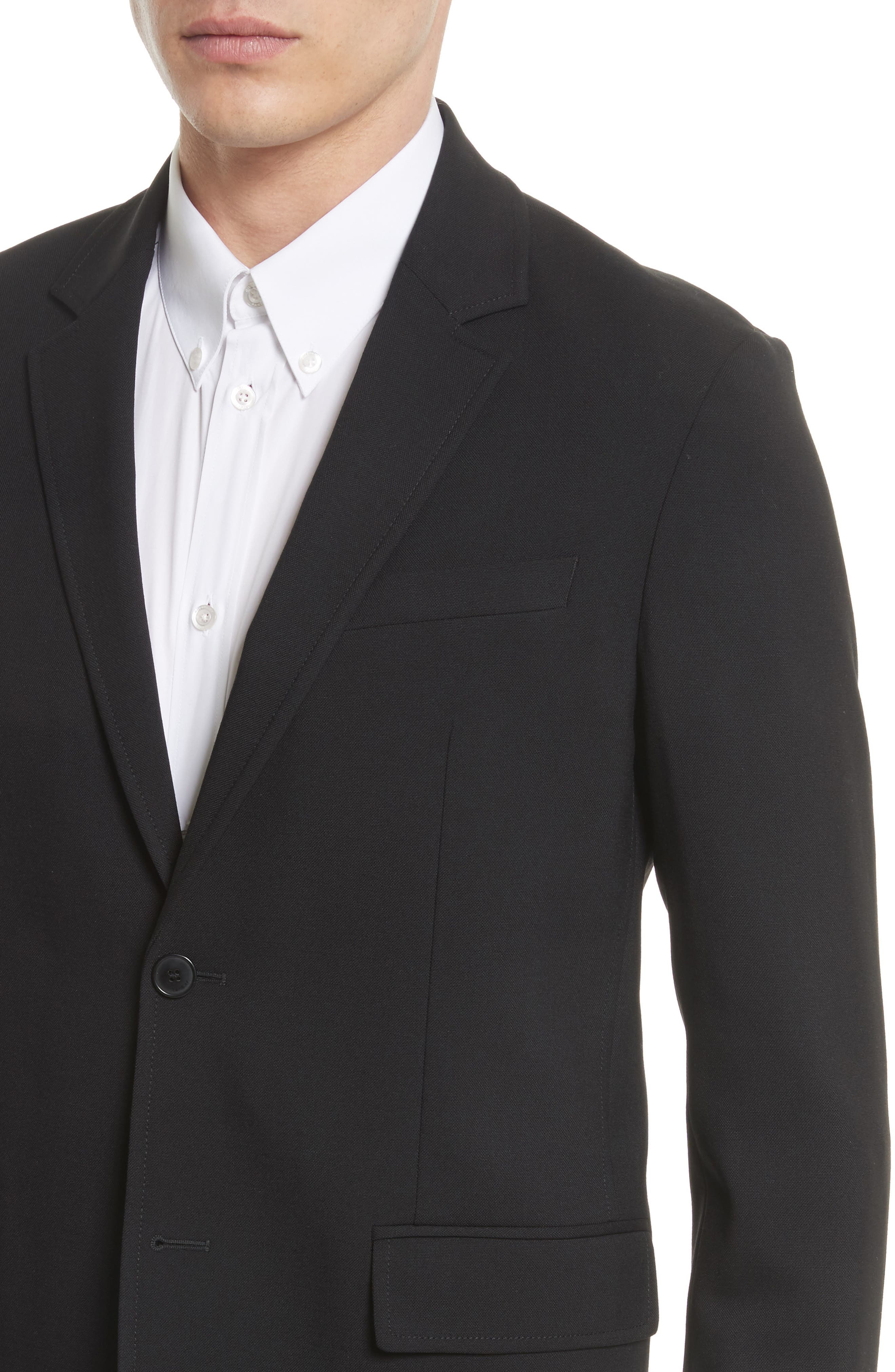 Star Tape Stretch Wool Jacket,                             Alternate thumbnail 5, color,