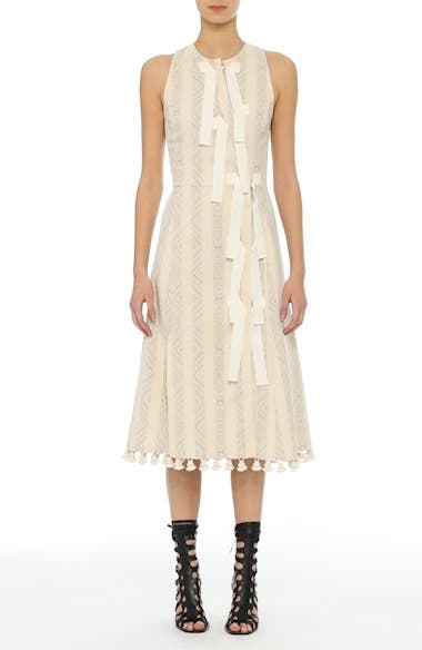 Alternate Video 10  - Altuzarra Grosgrain Tie Stripe Dress