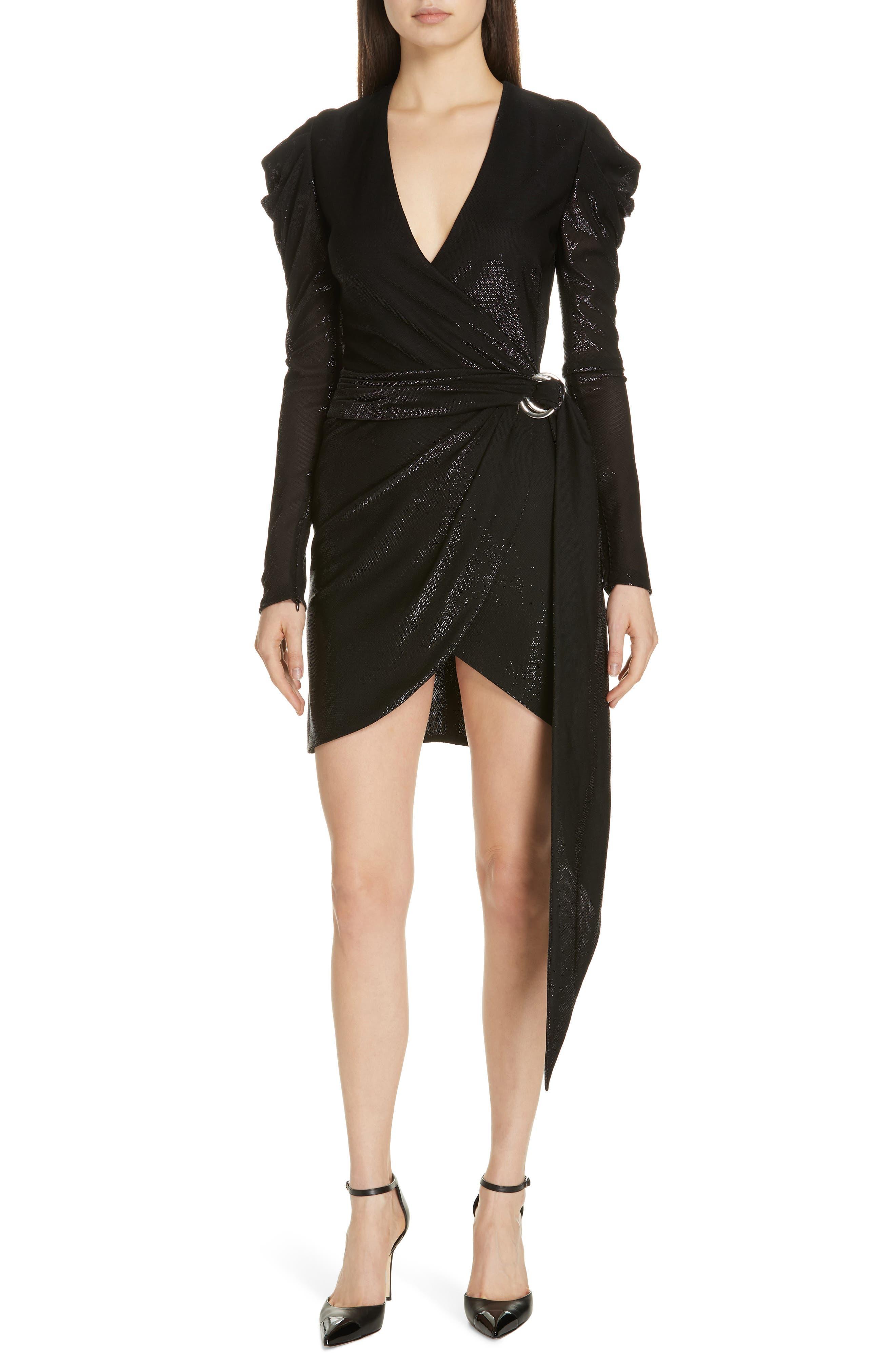 JONATHAN SIMKHAI Metallic Knit Dress, Main, color, BLACK