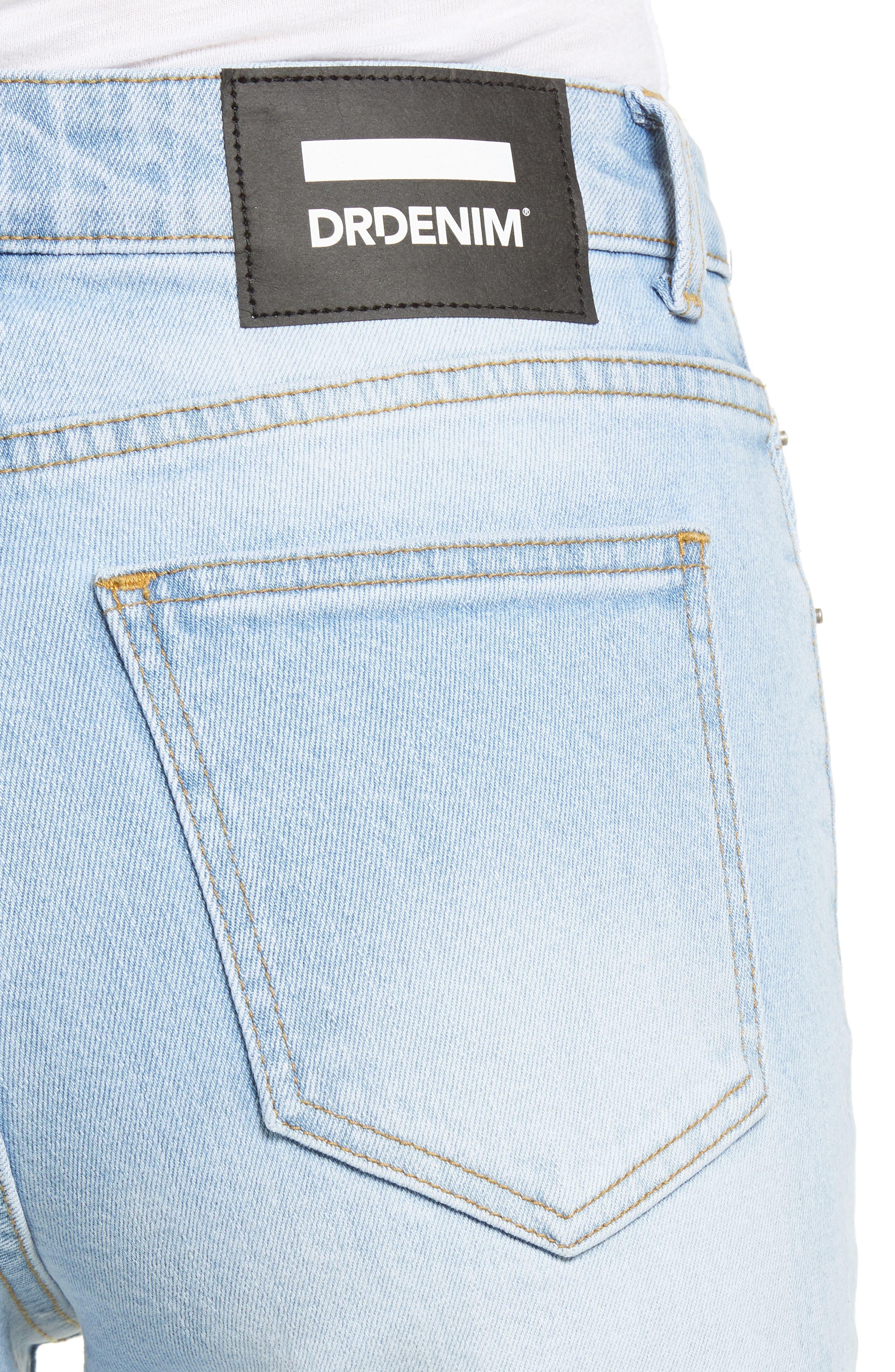 Edie High Waist Crop Straight Leg Jeans,                             Alternate thumbnail 4, color,                             400