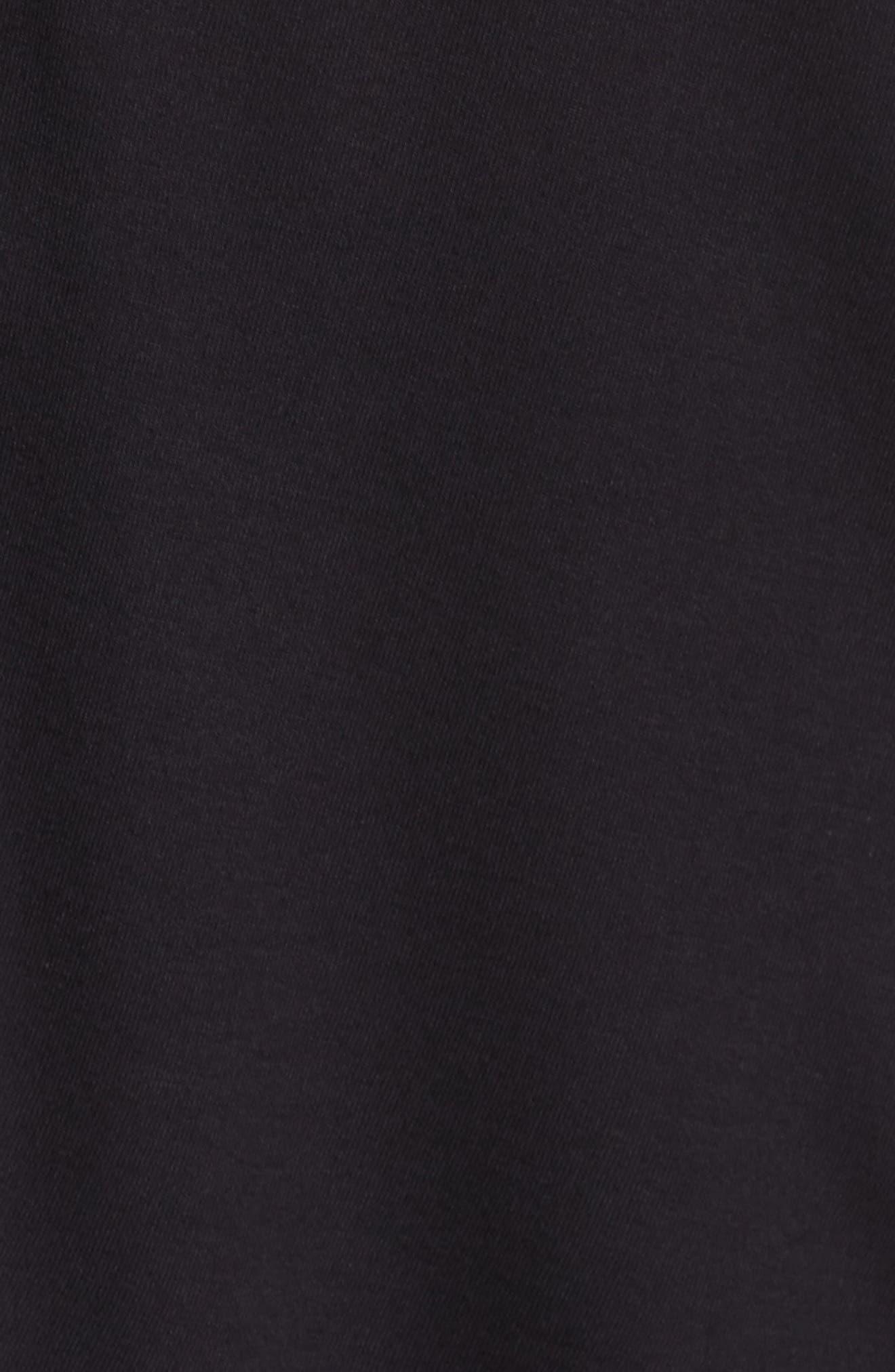 Lace Trim Ruffle Tee,                             Alternate thumbnail 5, color,                             001