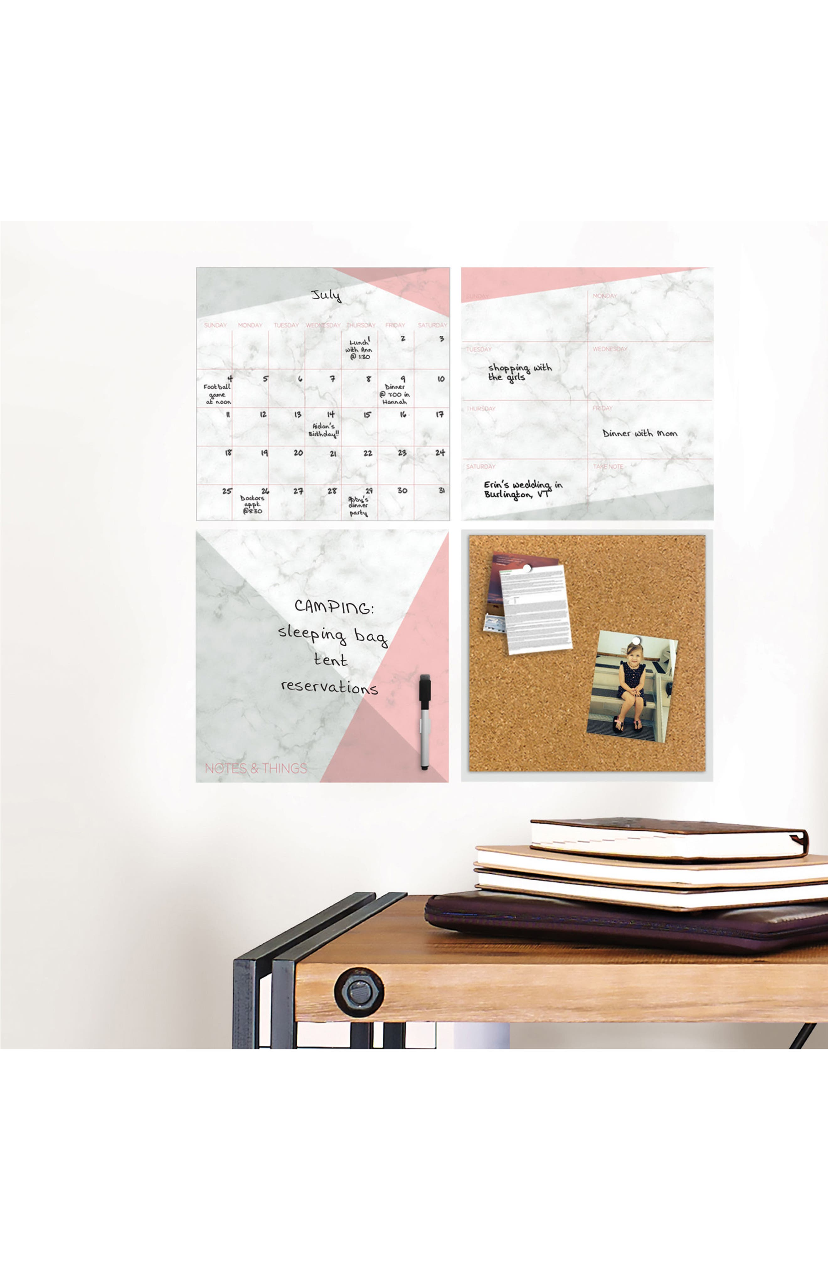 Everest Wall Decal Organization Kit,                             Alternate thumbnail 2, color,                             100