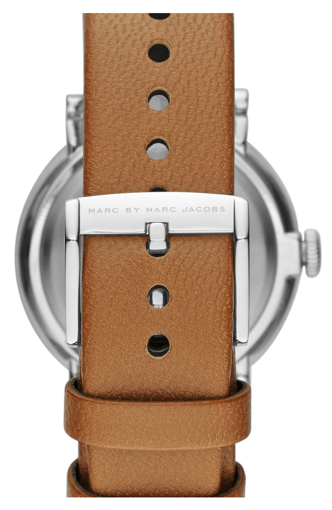 'Baker' Leather Strap Watch, 37mm,                             Alternate thumbnail 35, color,