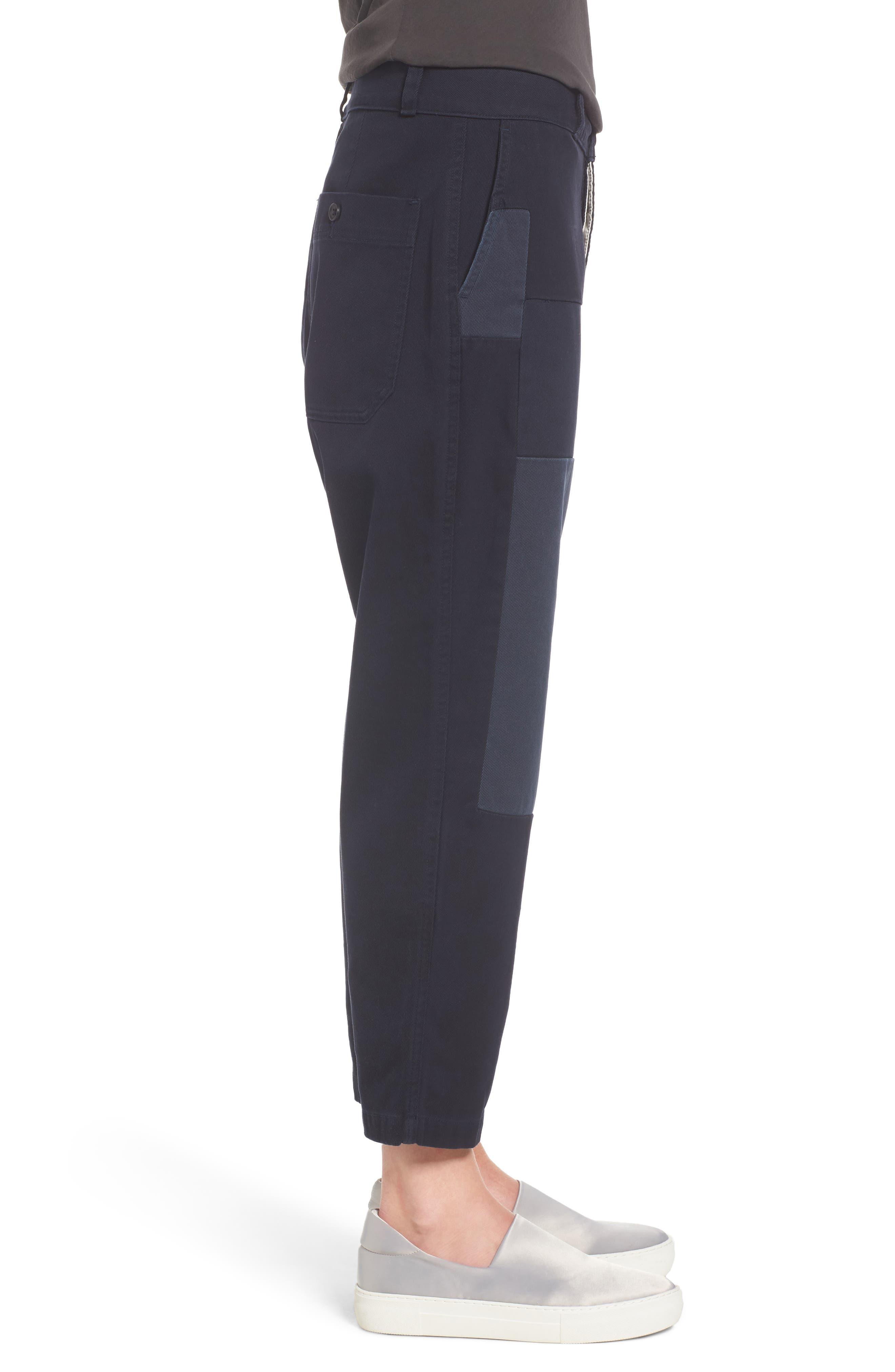 Crop Straight Leg Pants,                             Alternate thumbnail 3, color,