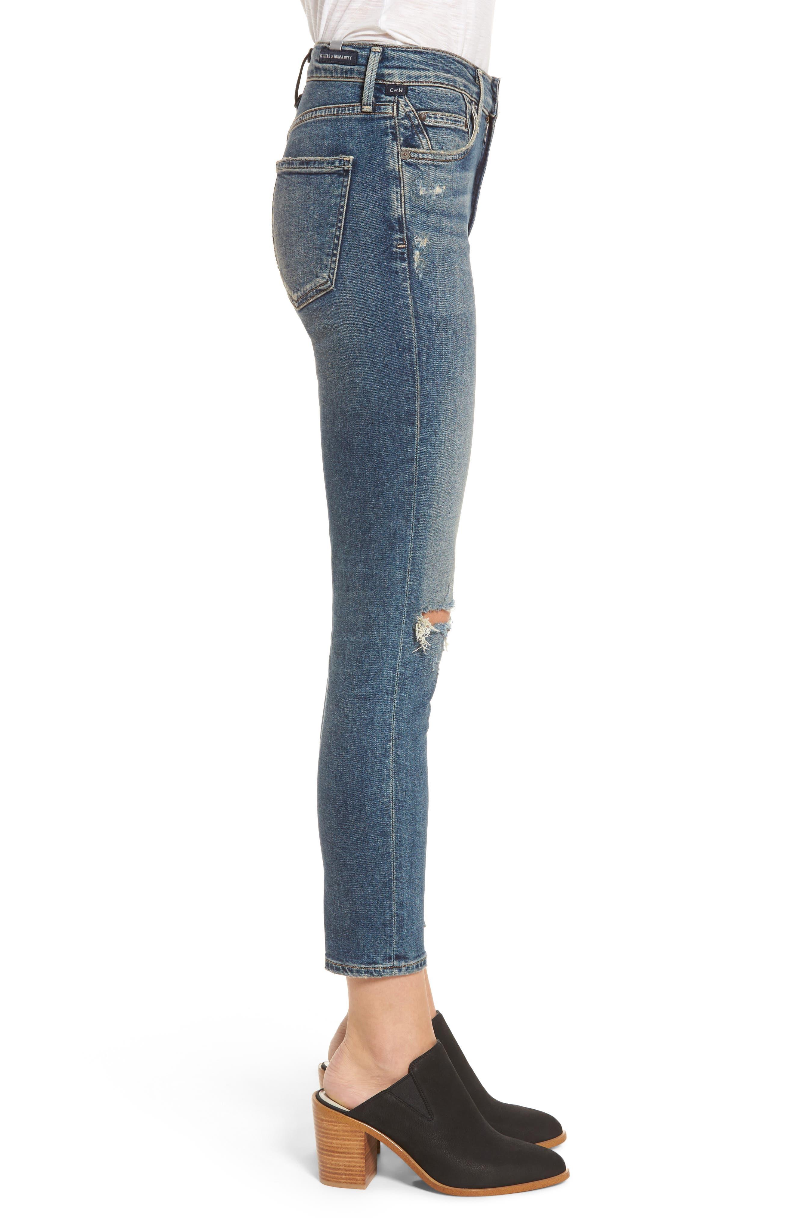 Rocket Crop Skinny Jeans,                             Alternate thumbnail 3, color,                             405