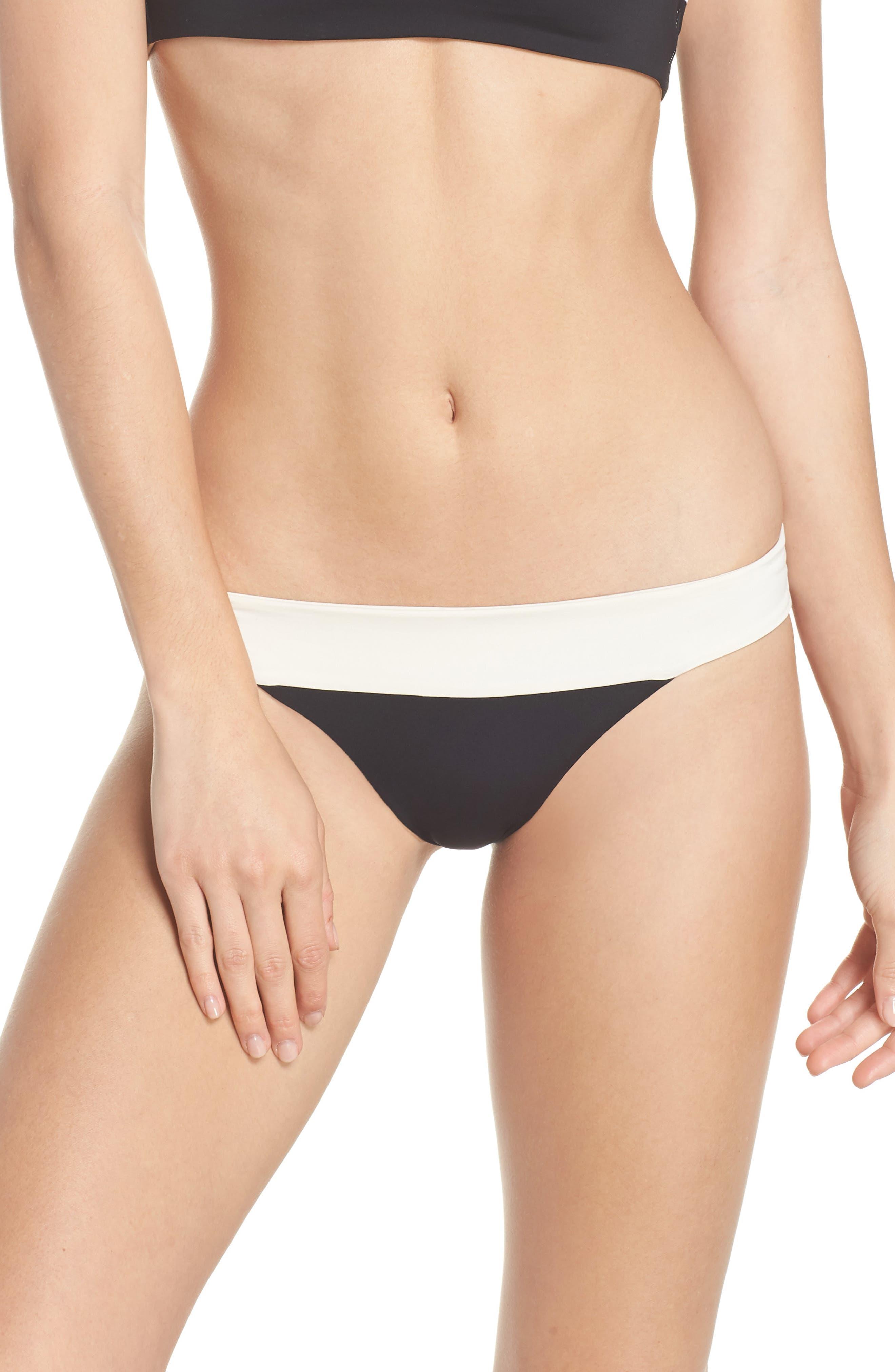 Reversible Bikini Bottom,                             Main thumbnail 1, color,                             CREAM/ BLACK/ CAMEL