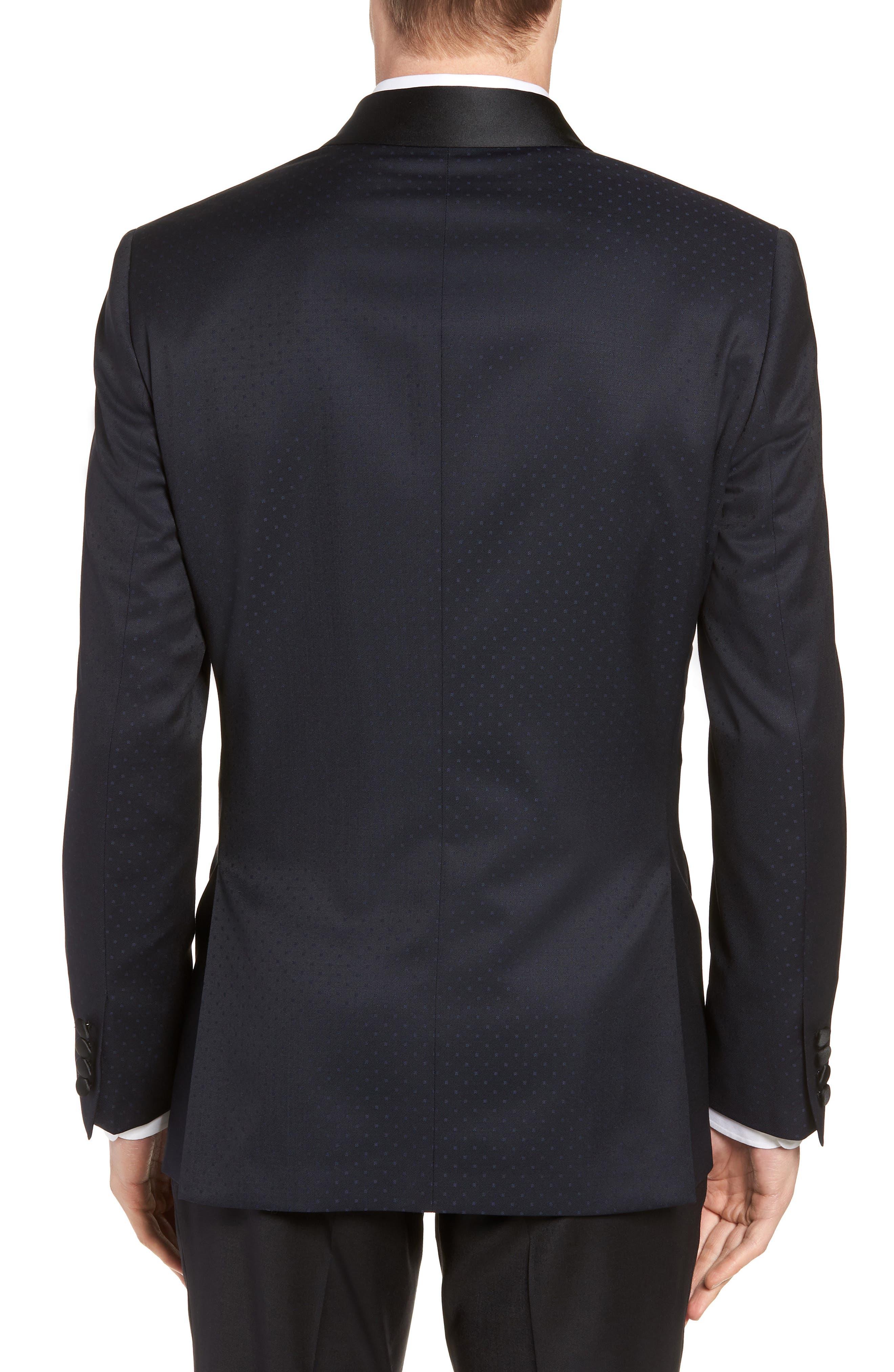 Josh Trim Fit Shawl Collar Wool Dinner Jacket,                             Alternate thumbnail 2, color,                             NAVY