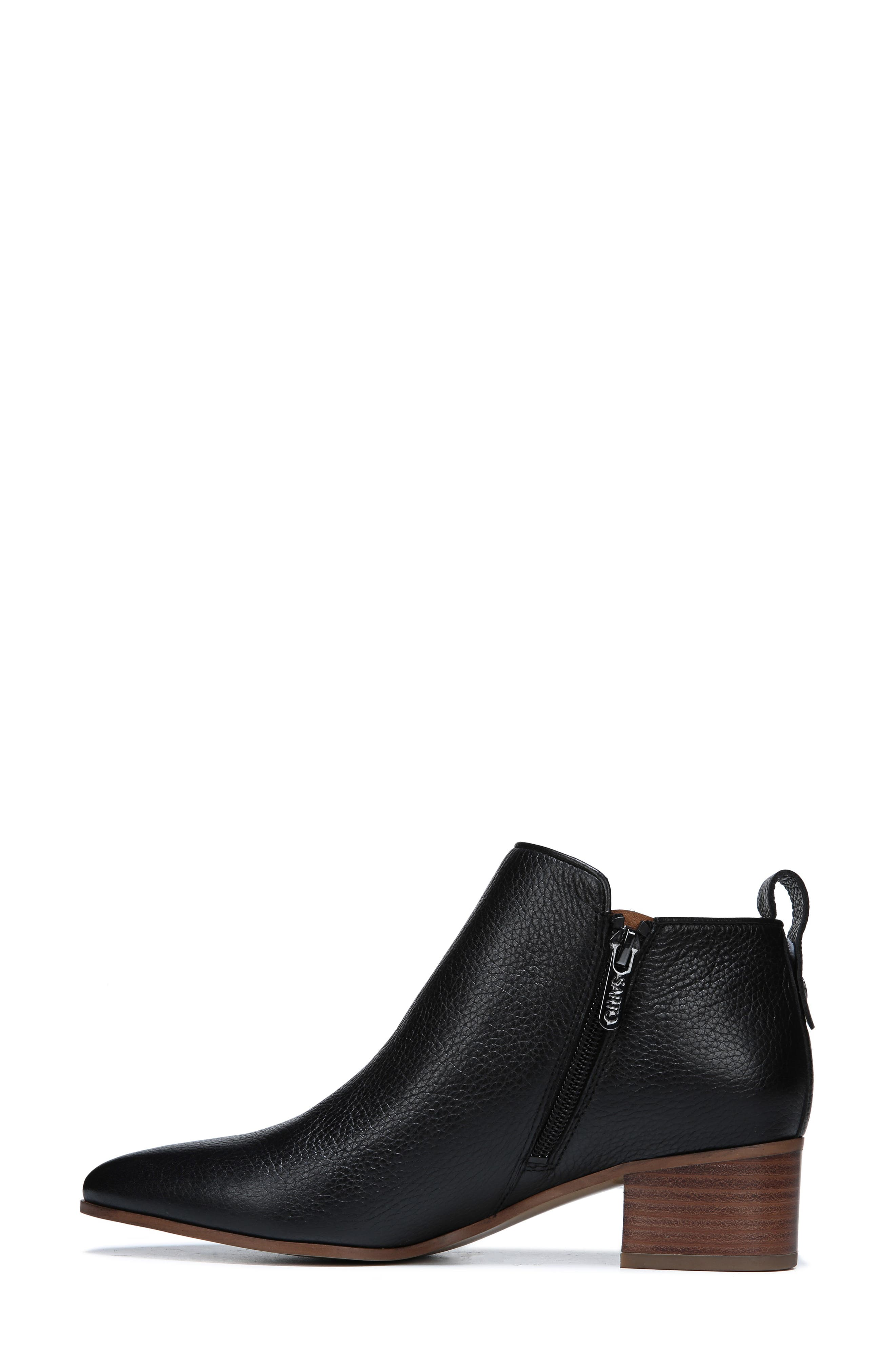 Jollie Bootie,                             Alternate thumbnail 7, color,                             BLACK LEATHER