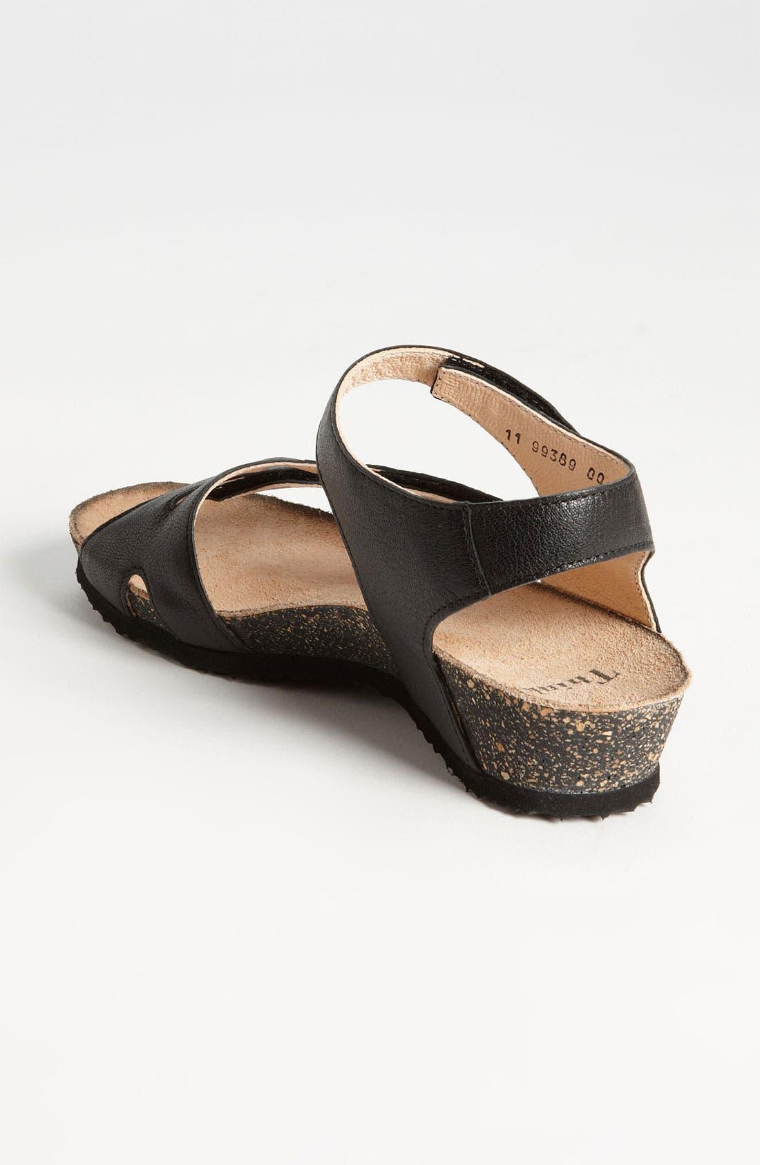 'Dumia' Three Strap Sandal,                             Alternate thumbnail 3, color,                             001