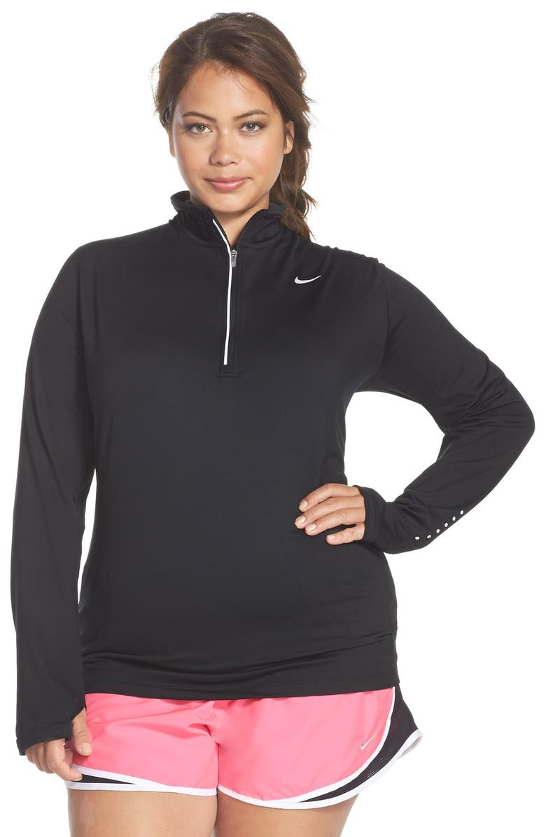 11ca4bd617201 Nike  Element  Dri-FIT Half Zip Running Top (Plus Size)