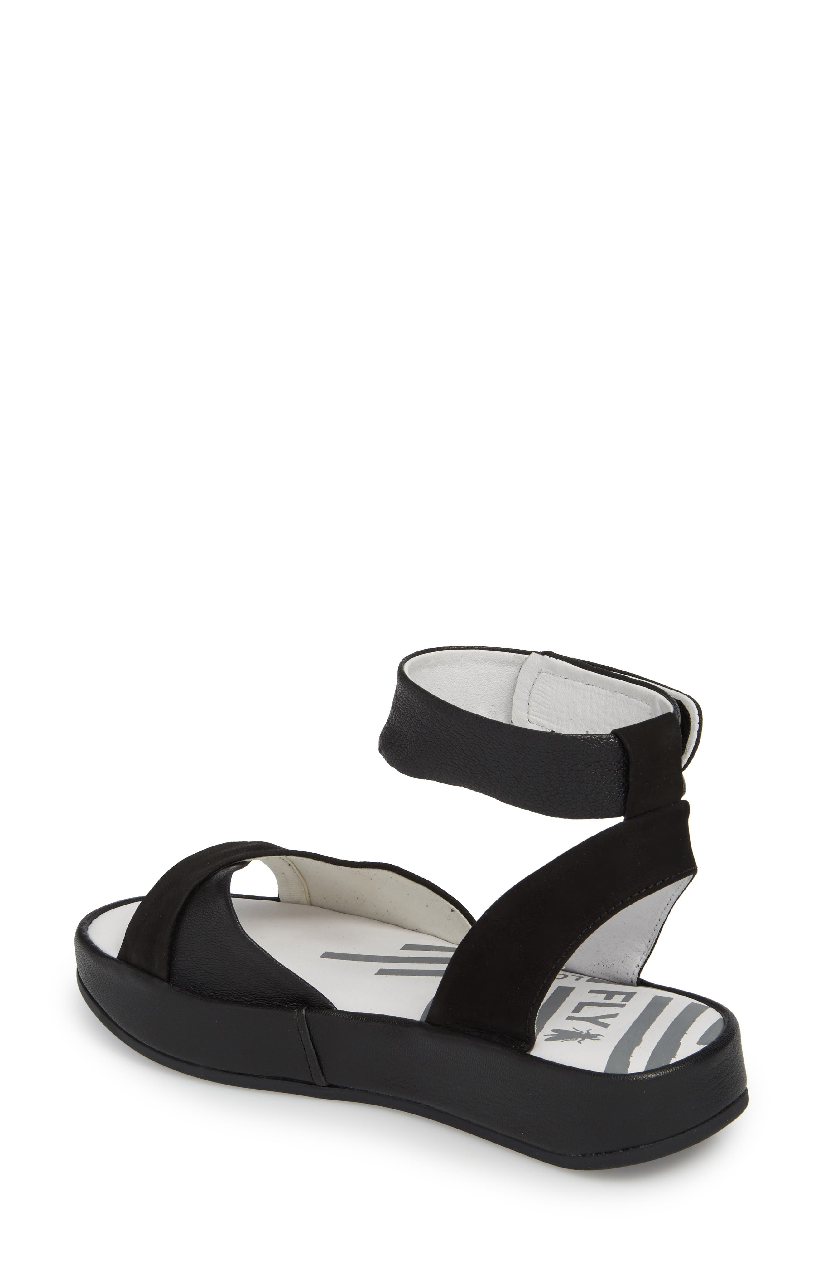 Bibb Sandal,                             Alternate thumbnail 2, color,                             BLACK MIX LEATHER