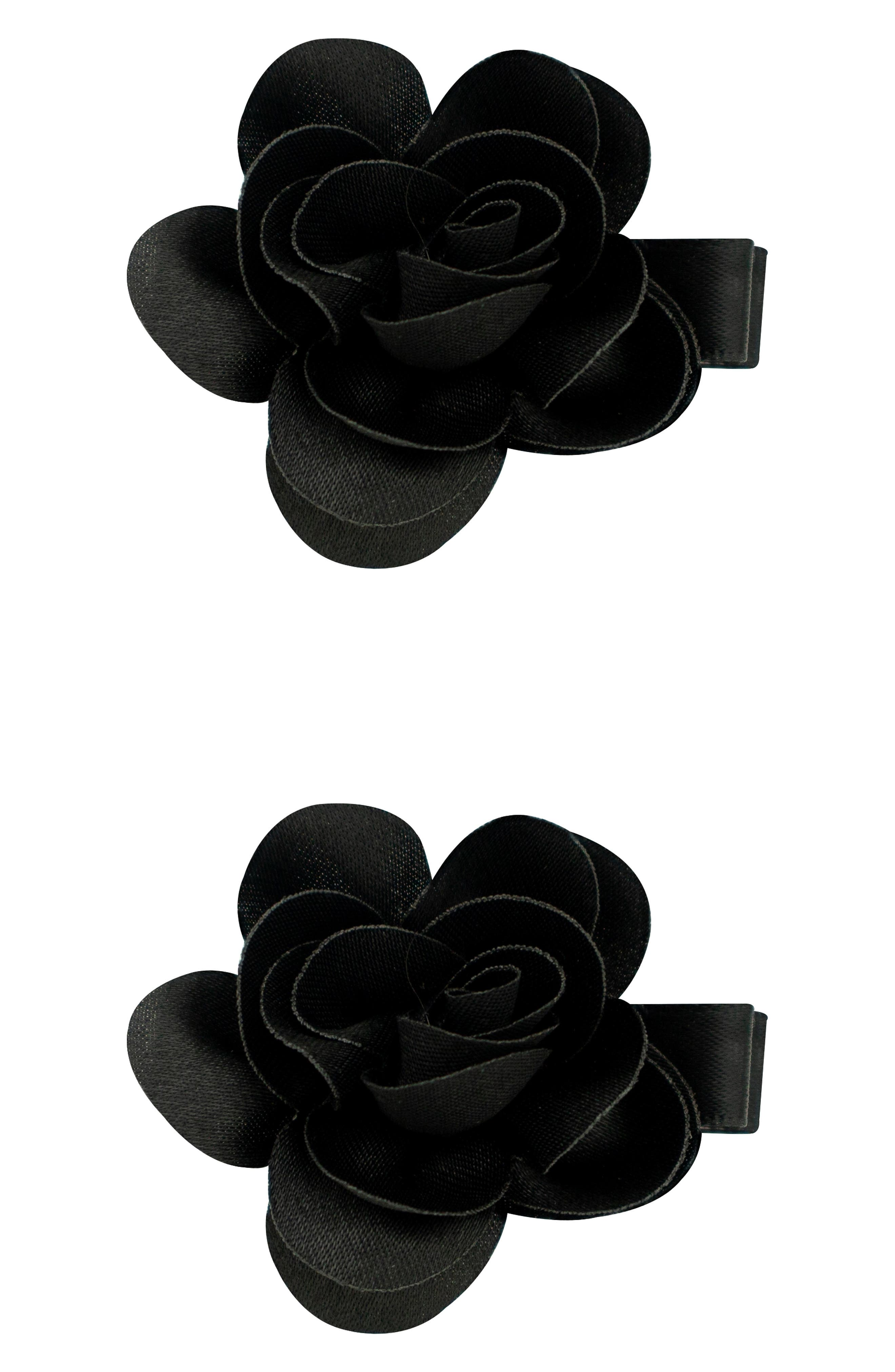 Set of 2 Flower Hair Clips,                         Main,                         color, 001
