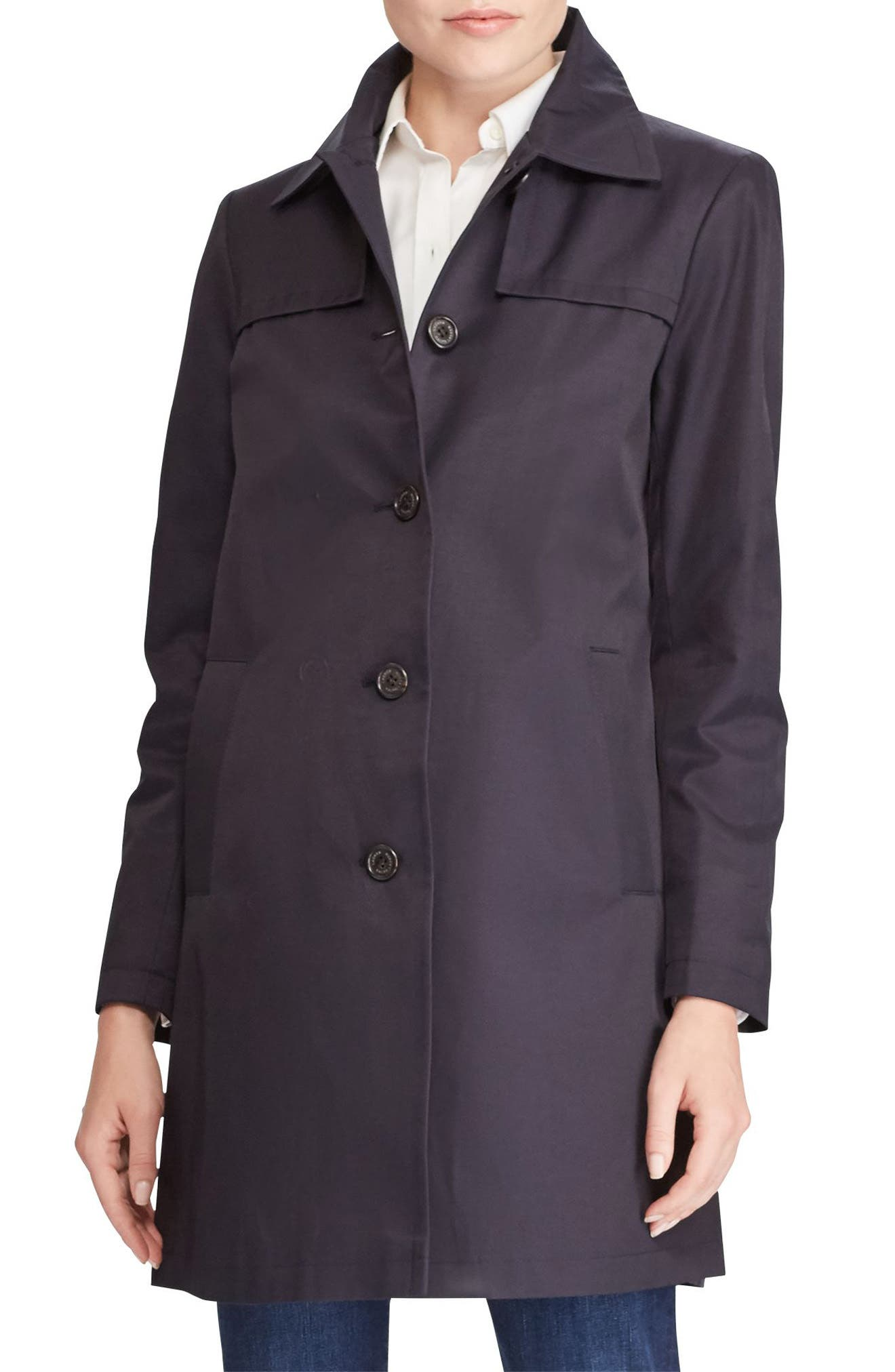 A-Line Trench Coat,                             Main thumbnail 3, color,