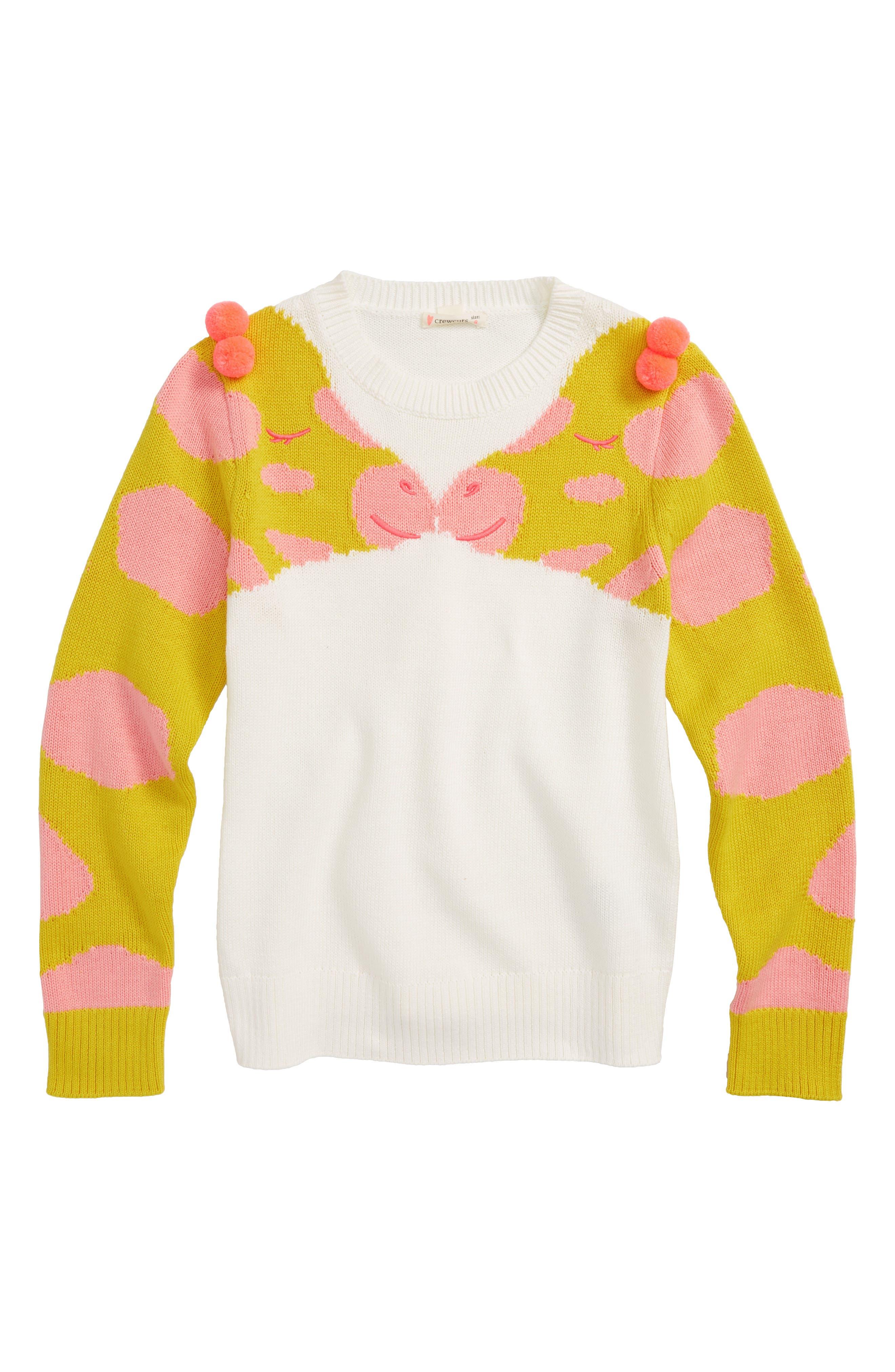 Giraffe Sweater,                             Main thumbnail 1, color,                             IVORY MULTI