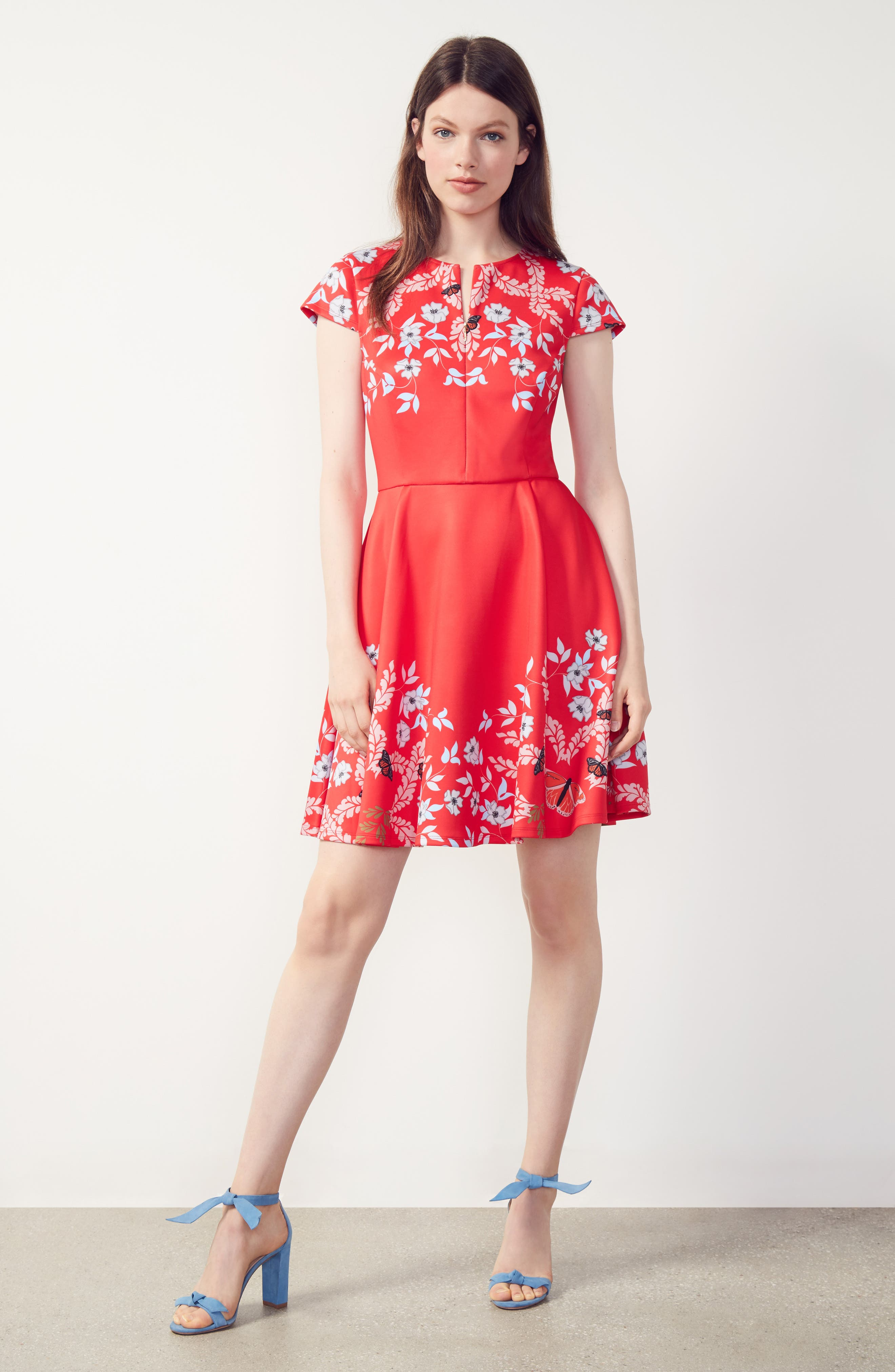 Saydi Kyoto Skater Dress,                             Alternate thumbnail 6, color,