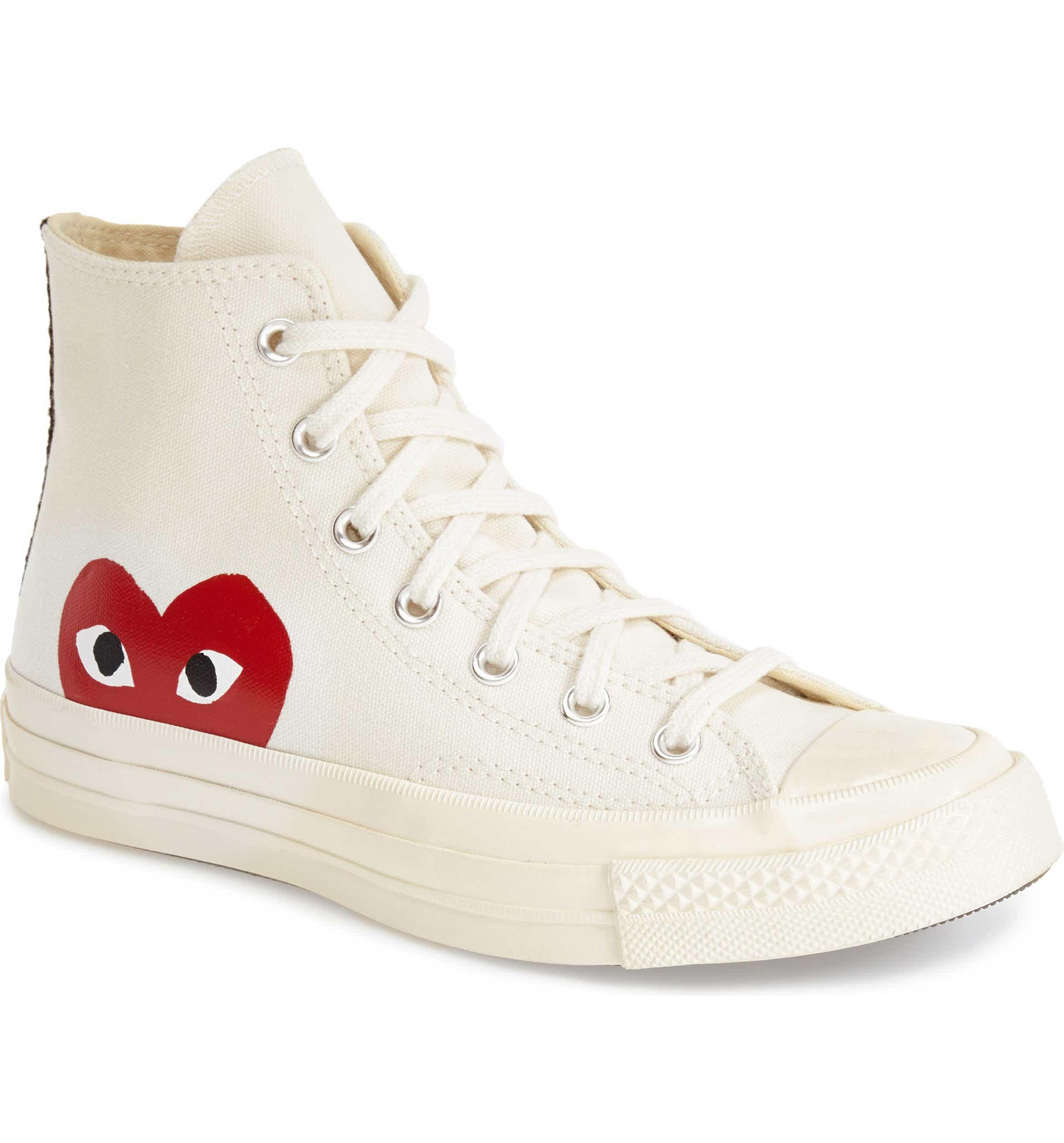 PLAY x Converse Chuck Taylor Hidden Heart High Top Sneaker