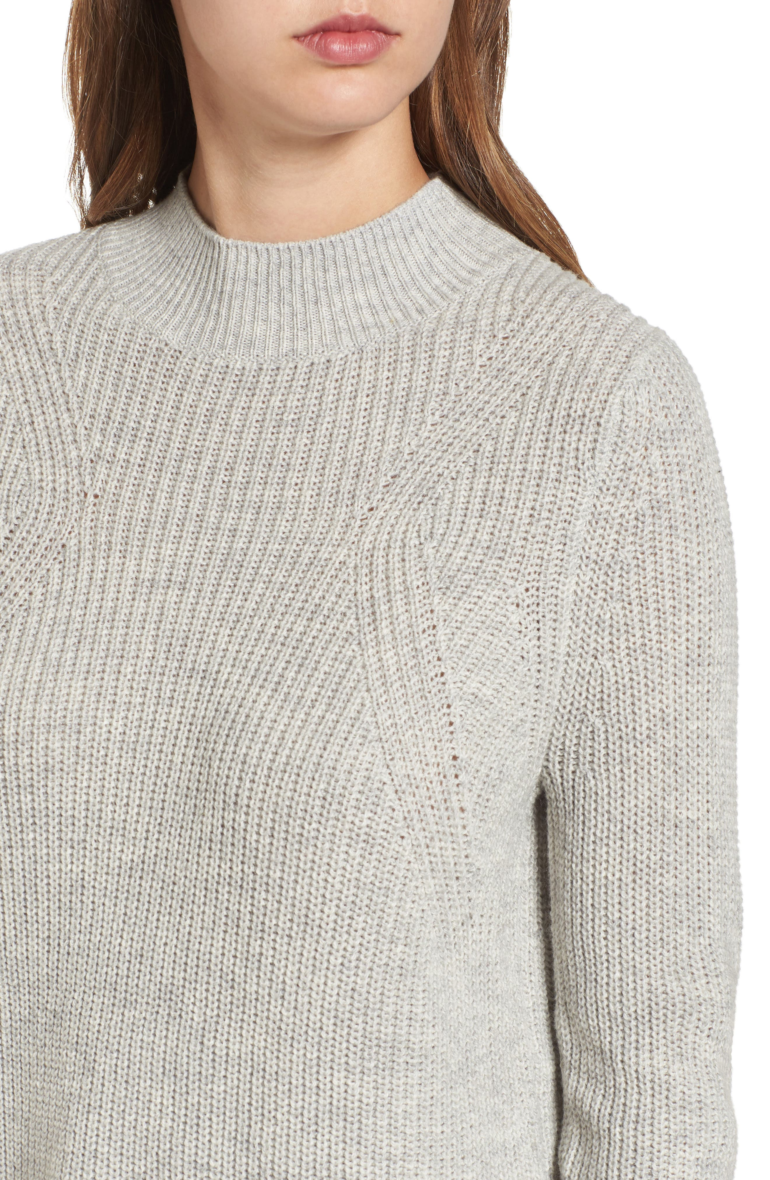 Mock Neck Tunic Sweater,                             Alternate thumbnail 24, color,