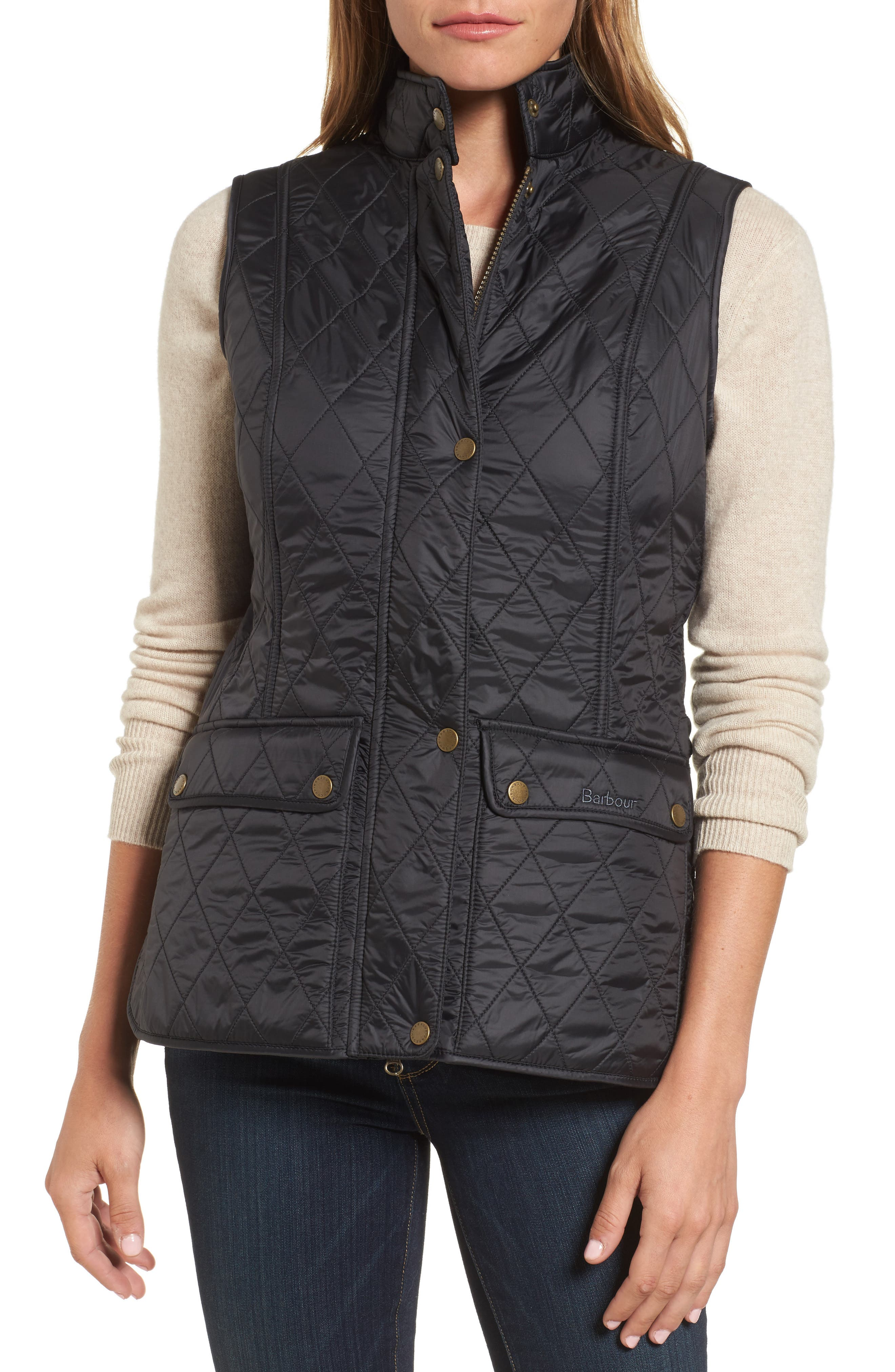 Wray Water Resistant Quilted Gilet,                             Alternate thumbnail 4, color,                             001