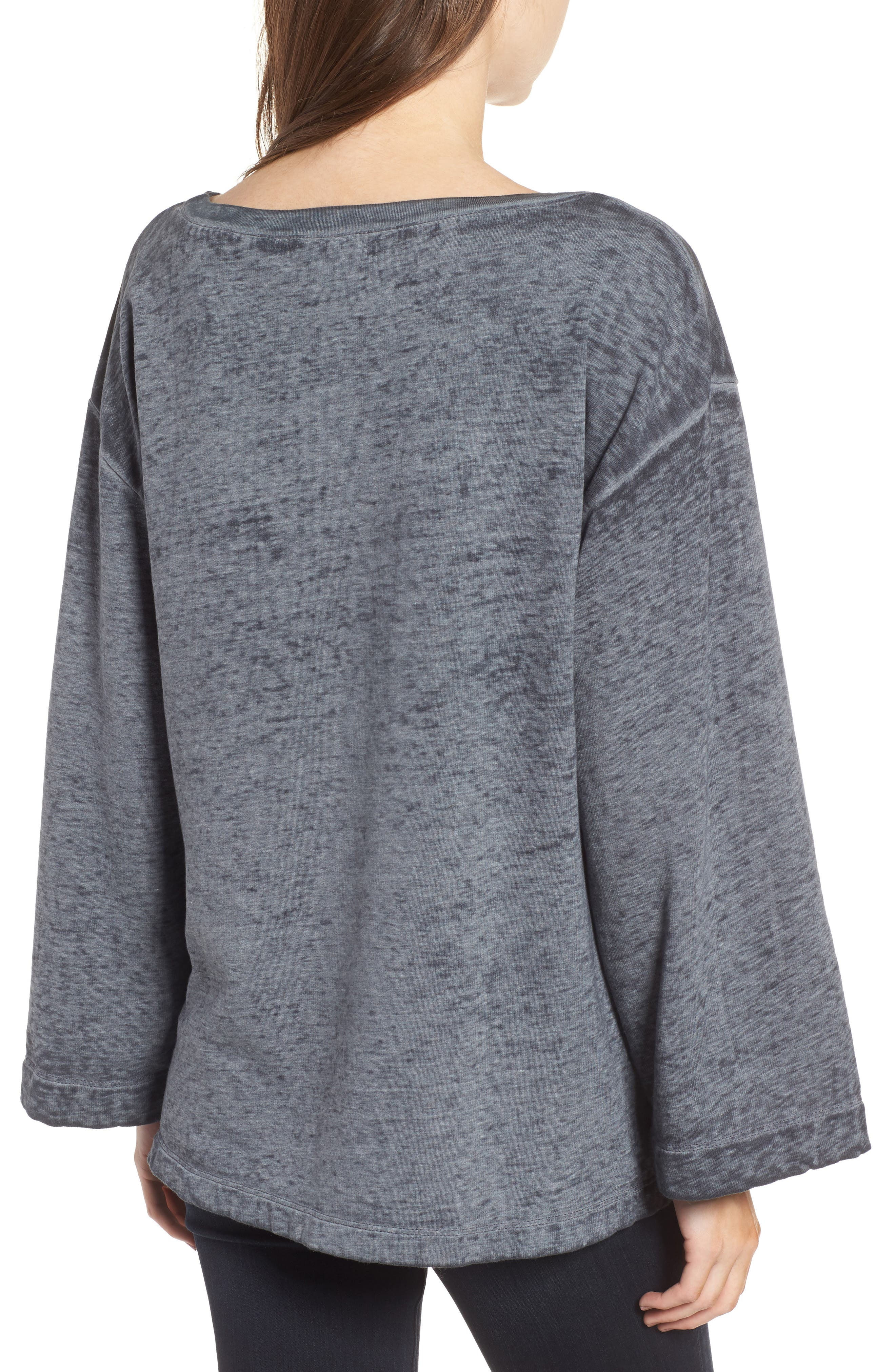 Bell Sleeve Sweatshirt,                             Alternate thumbnail 2, color,                             020