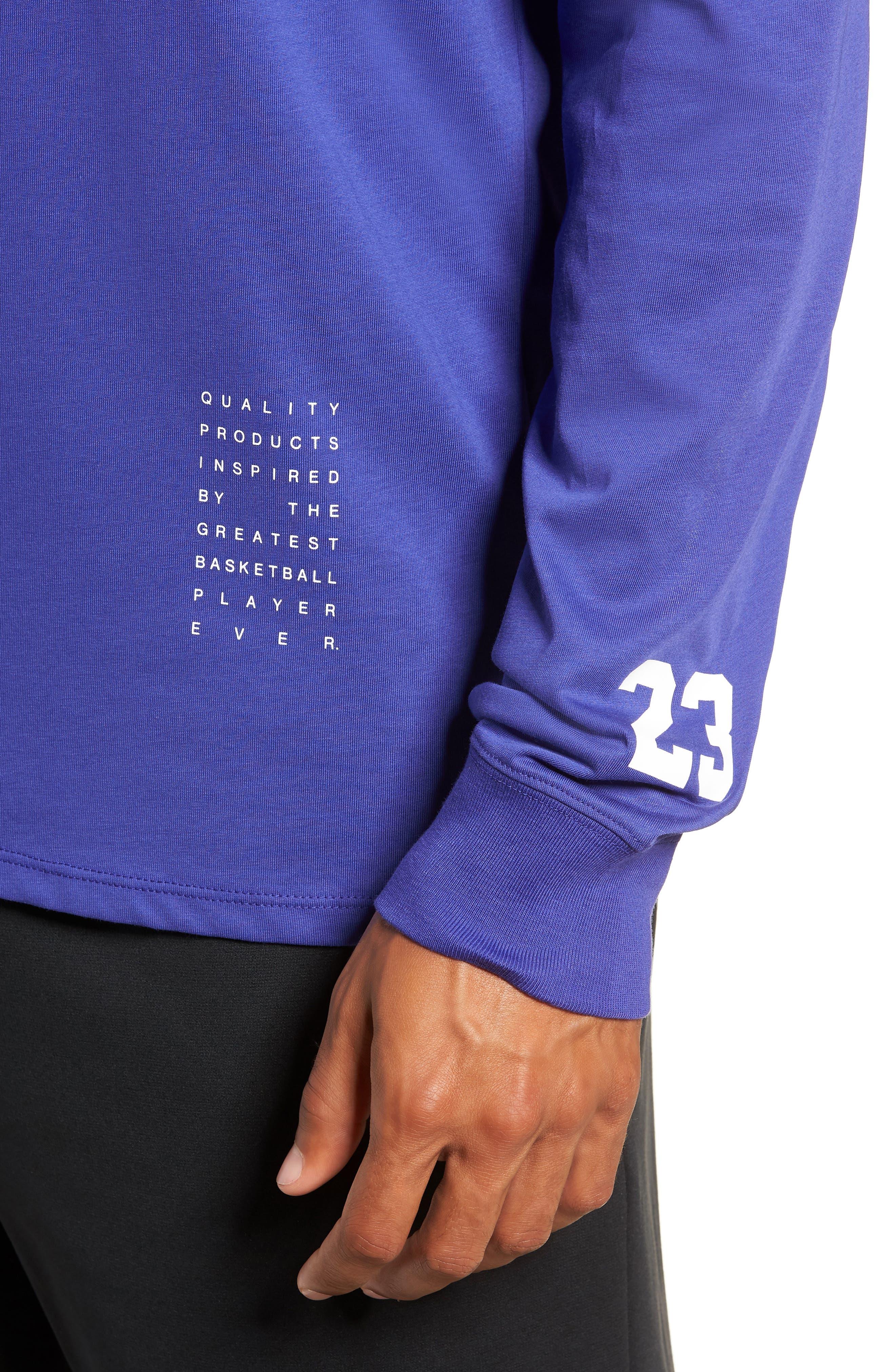 Basketball T-Shirt,                             Alternate thumbnail 4, color,                             BLUE