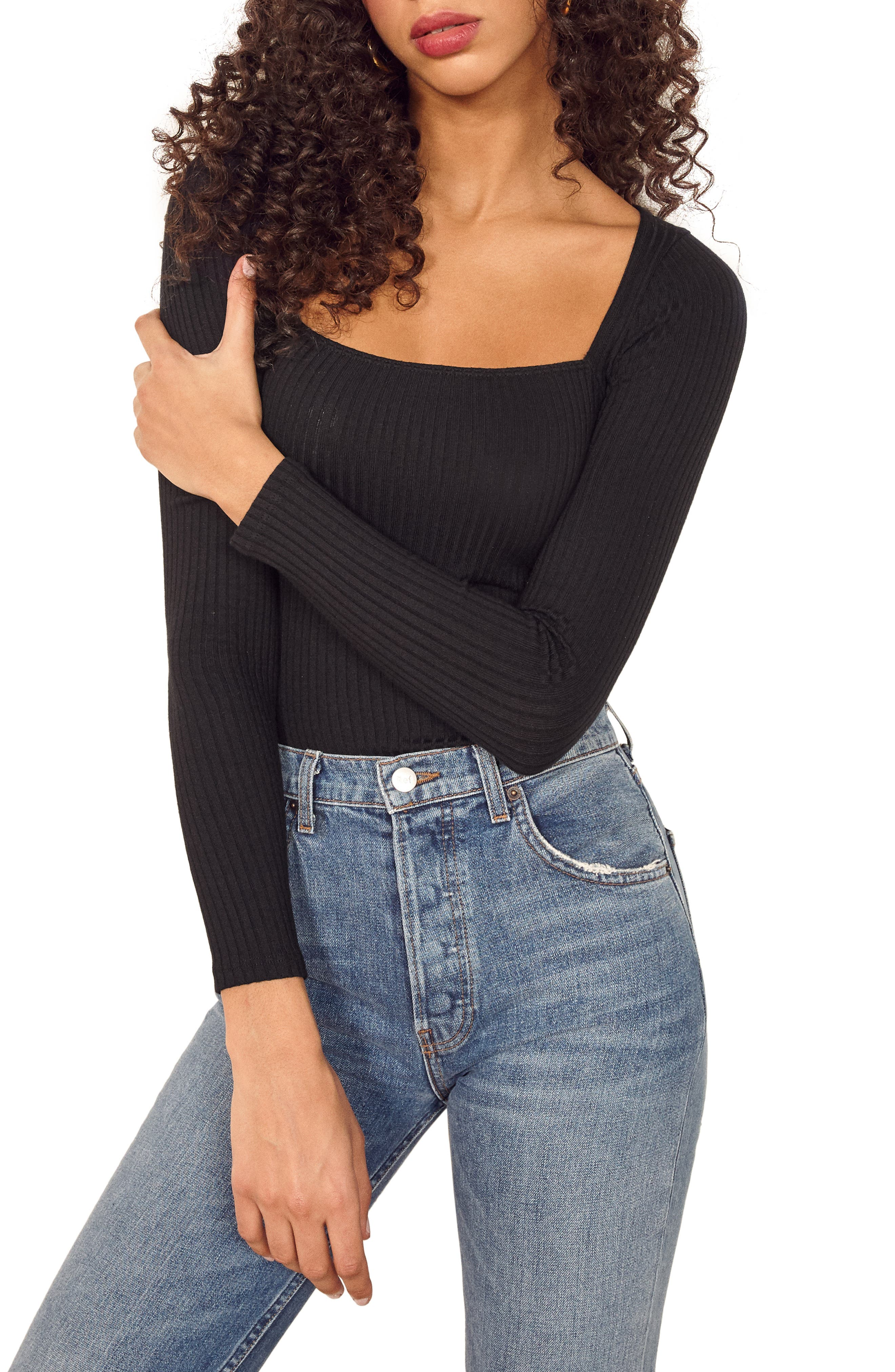 Bethany Top, Main, color, BLACK