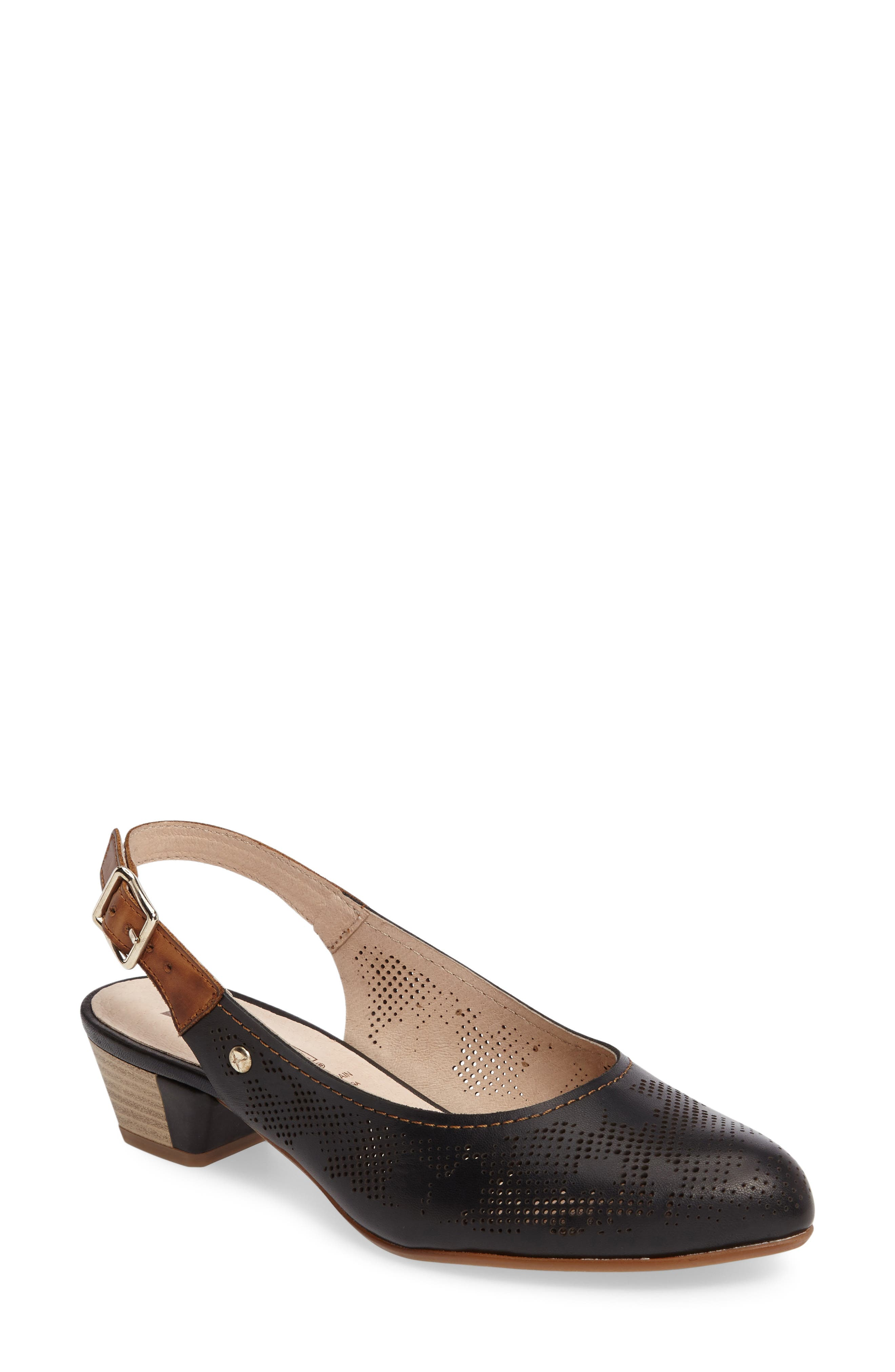 Elba Perforated Slingback Pump,                         Main,                         color,
