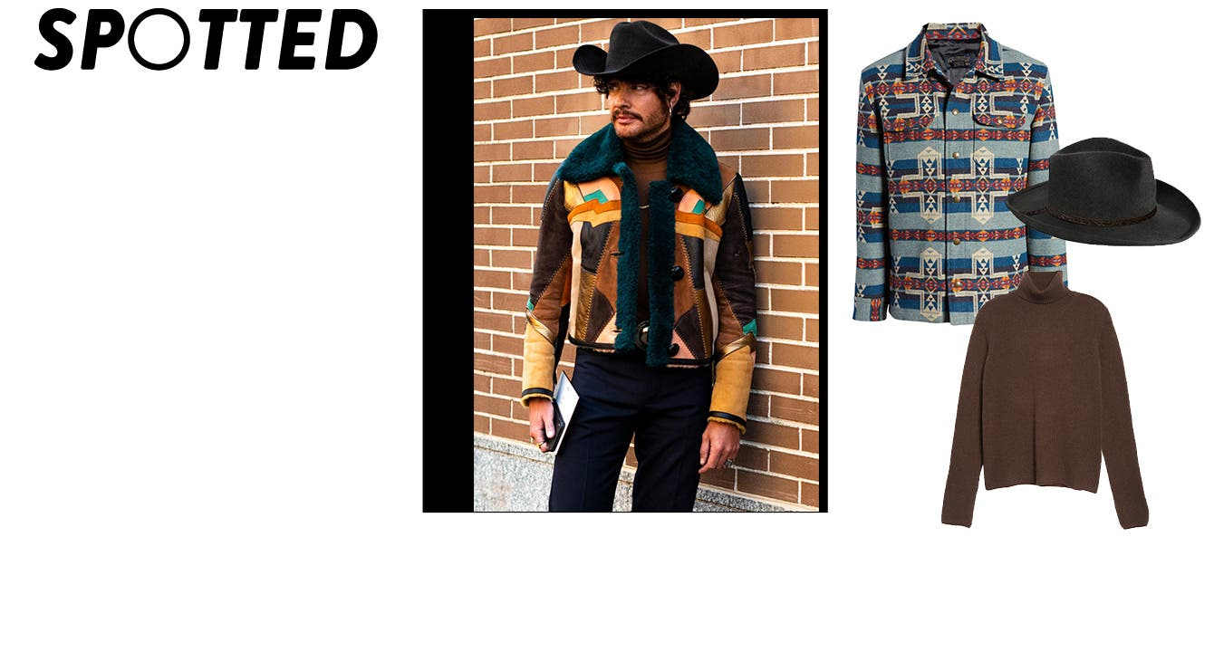 Western street style spotted at men's Fashion Week.