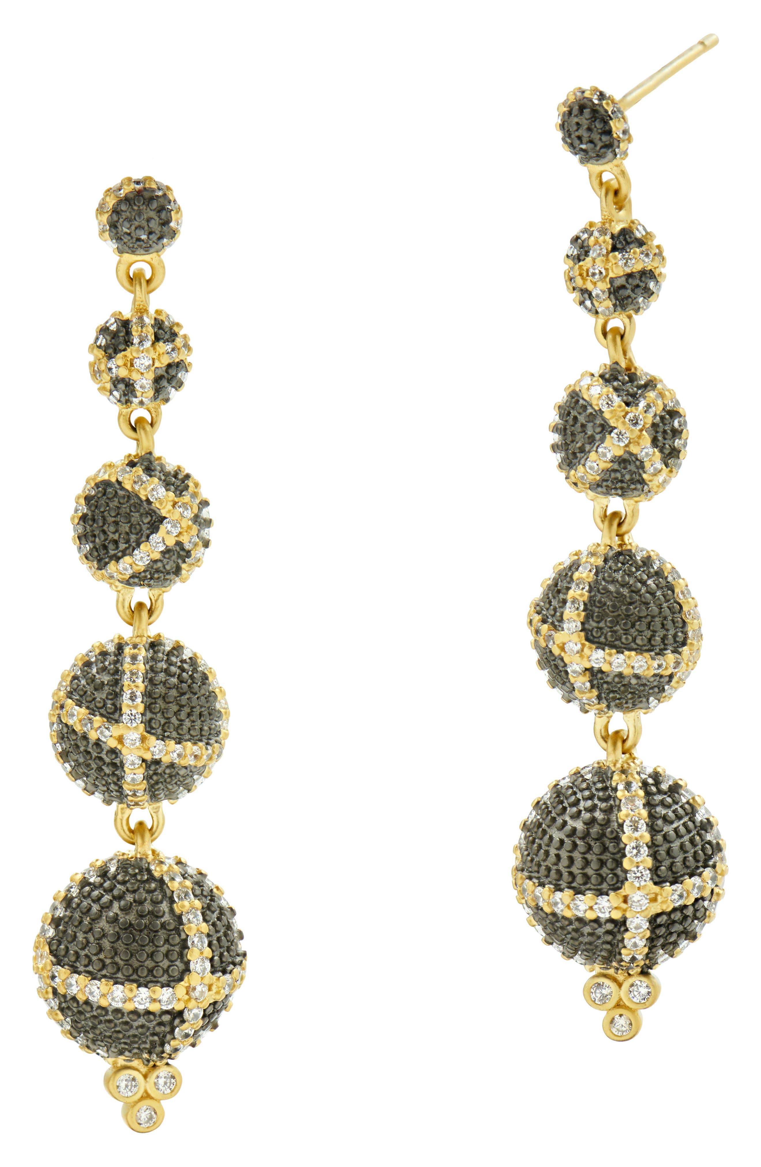 Textured Ornaments Bon Bon Drop Earrings,                             Main thumbnail 1, color,