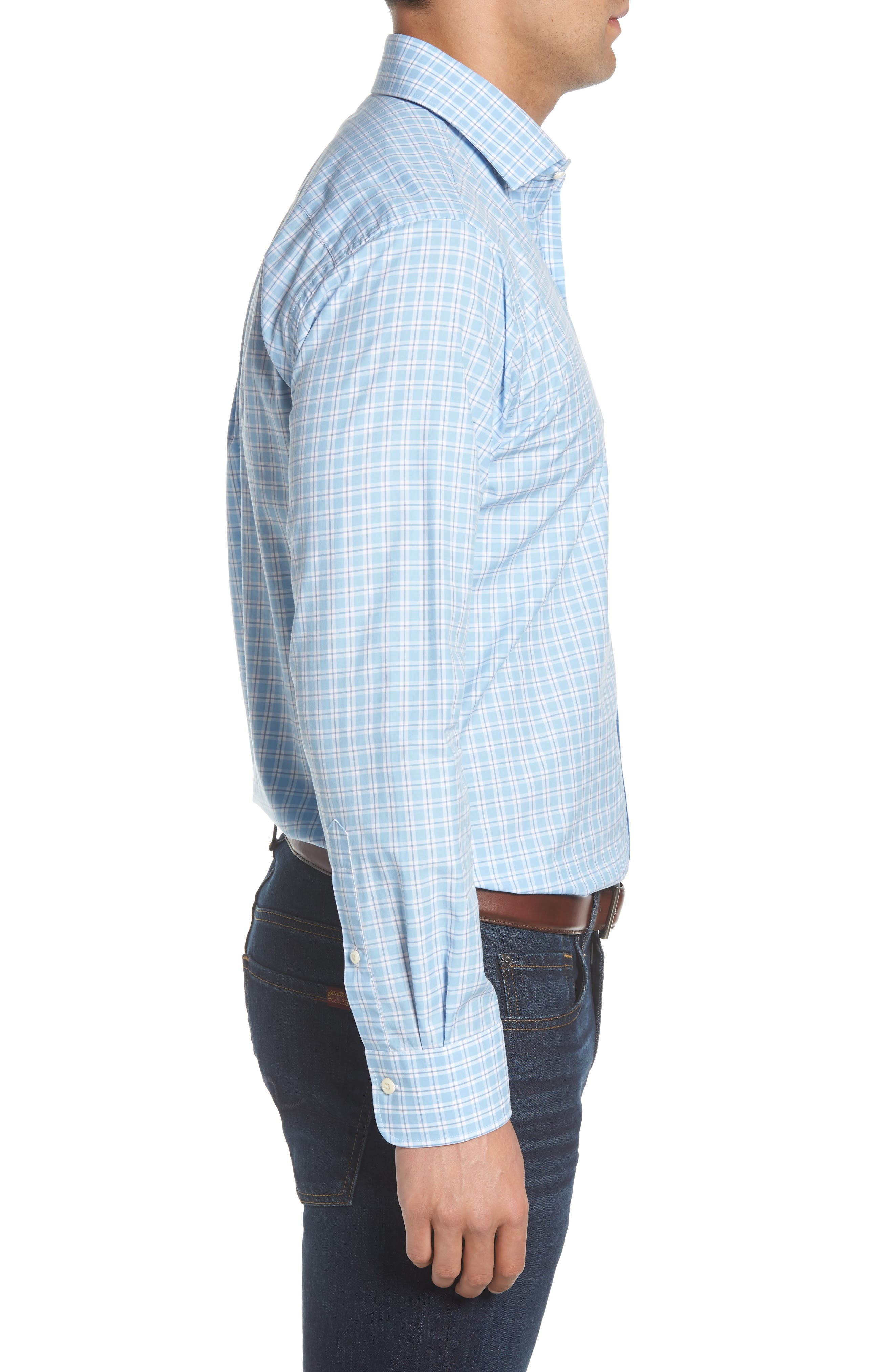 Ballard Regular Fit Check Sport Shirt,                             Alternate thumbnail 3, color,                             400