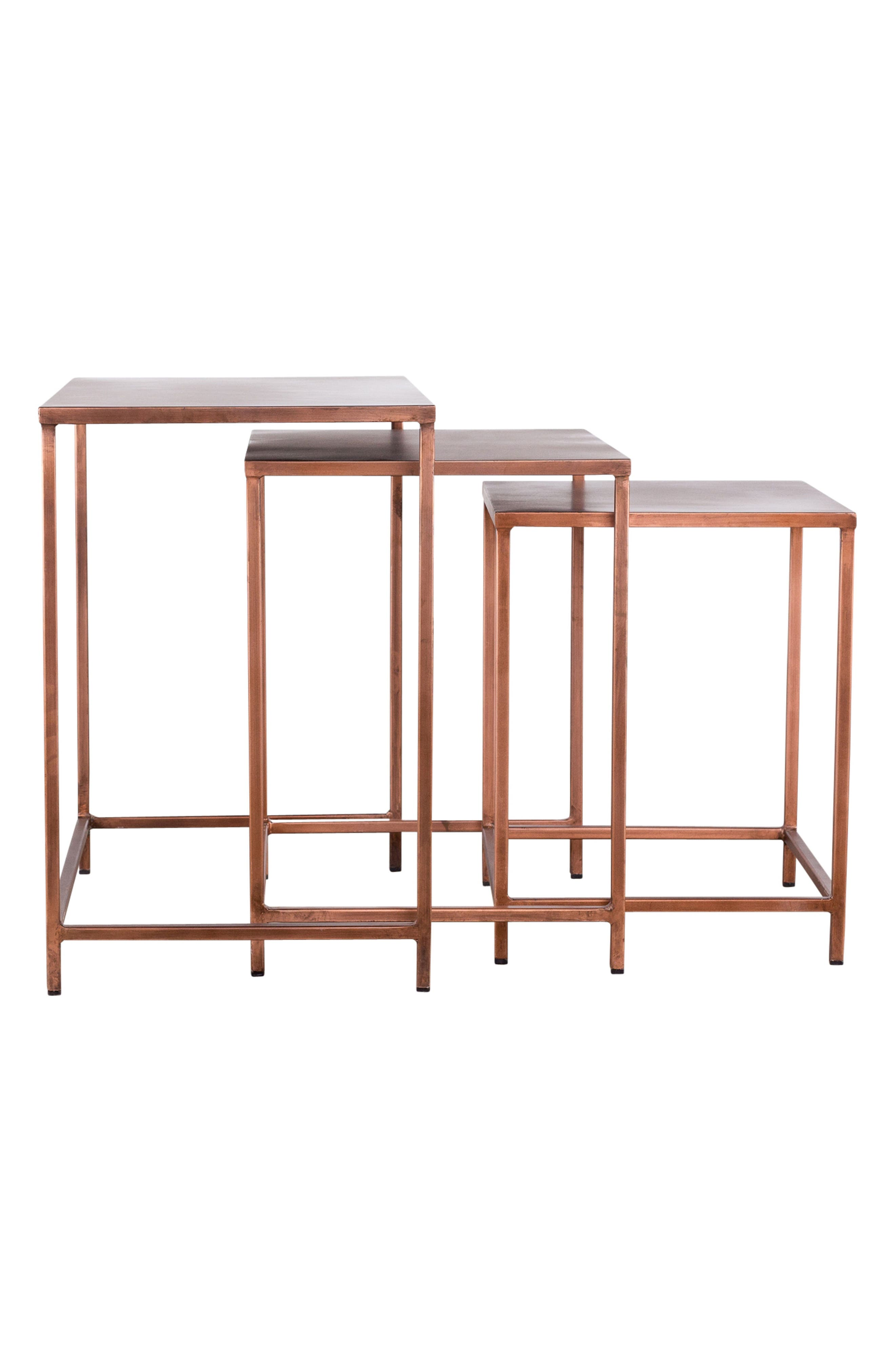 Pollock Set of 3 Nesting Tables,                             Alternate thumbnail 3, color,                             220
