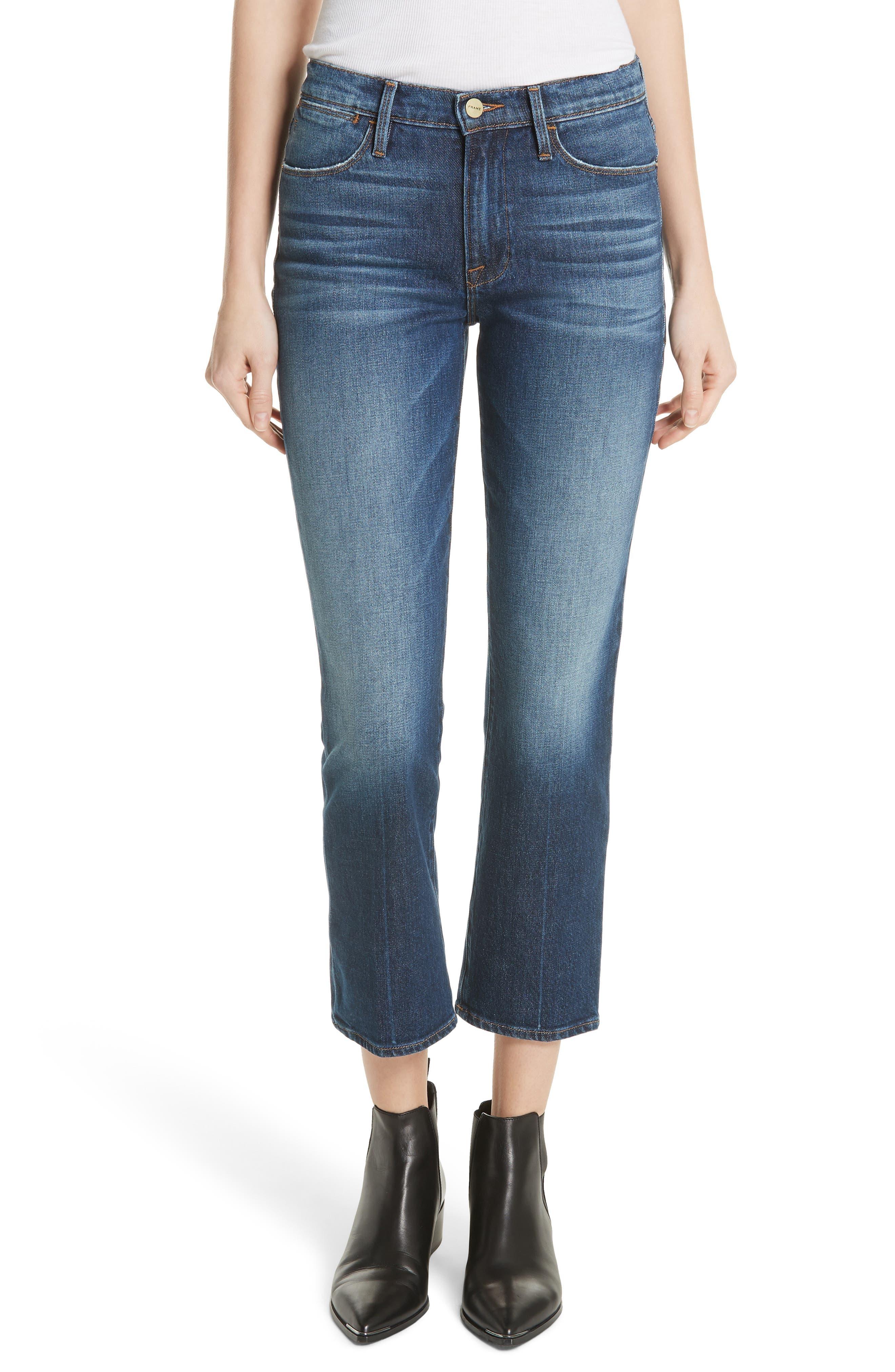 Le High Straight Leg Jeans,                             Main thumbnail 1, color,                             401