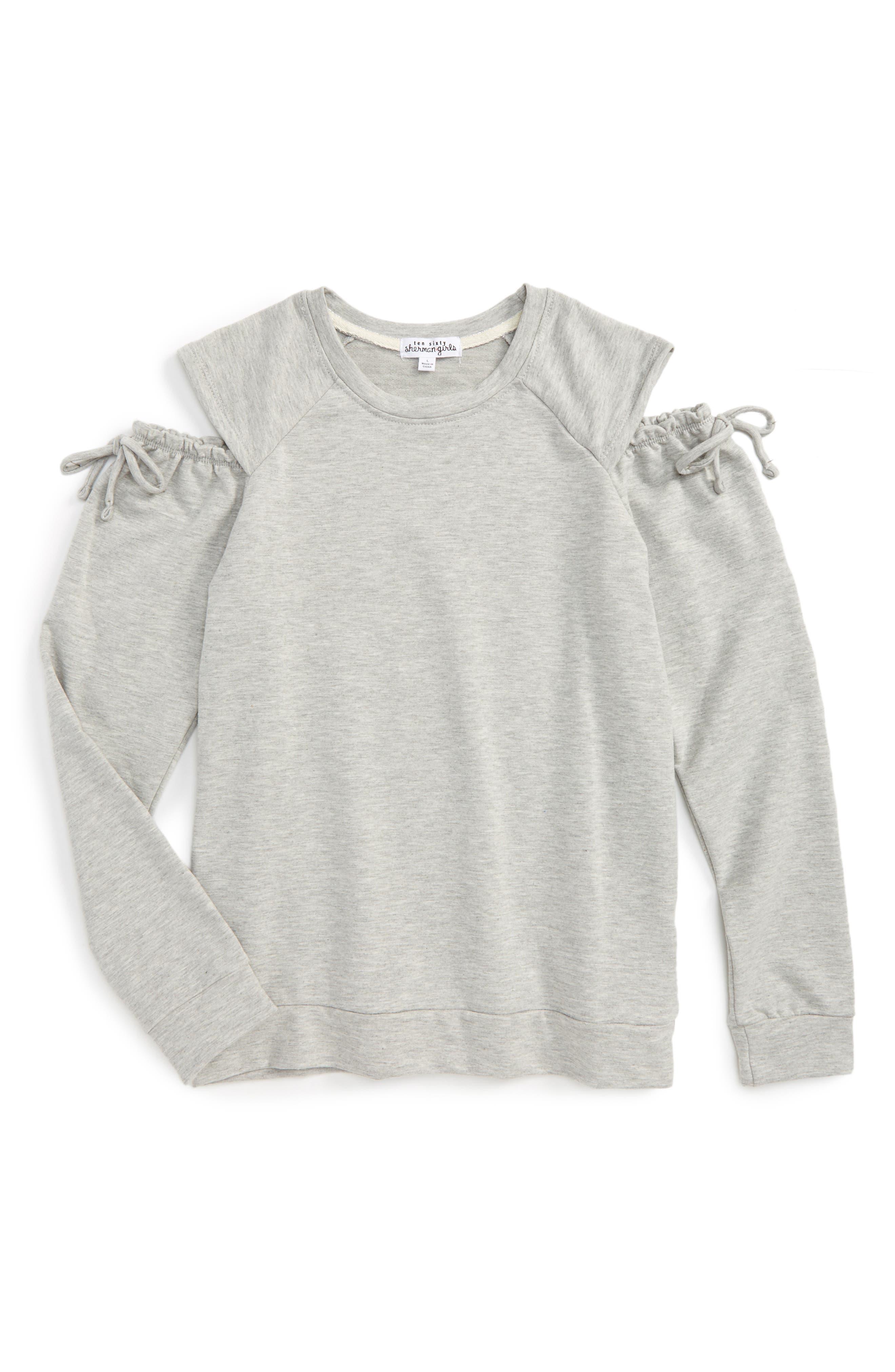 Cold Shoulder Sweatshirt,                             Main thumbnail 1, color,                             020