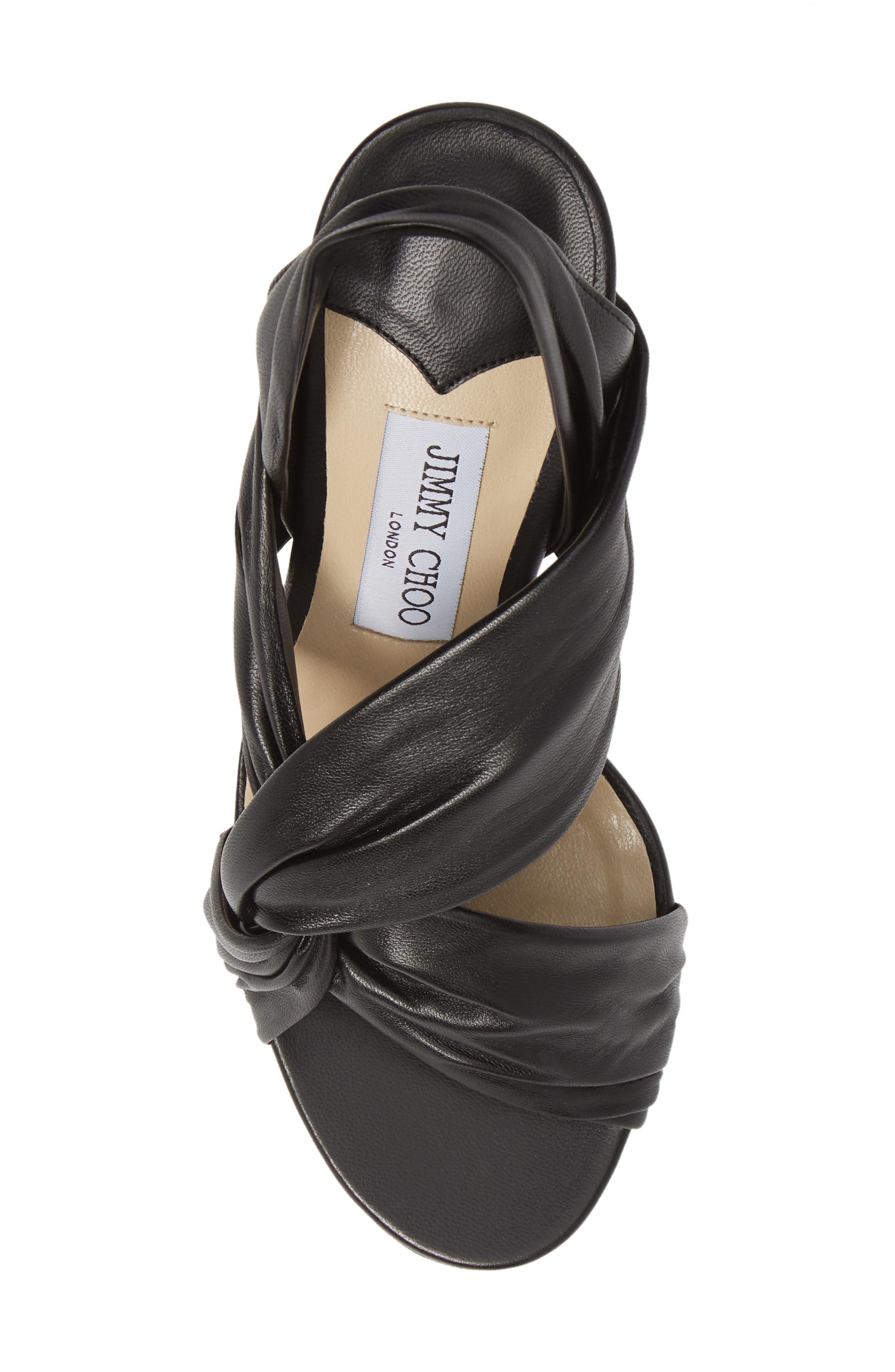 Lalia Slingback Sandal,                             Alternate thumbnail 5, color,                             BLACK