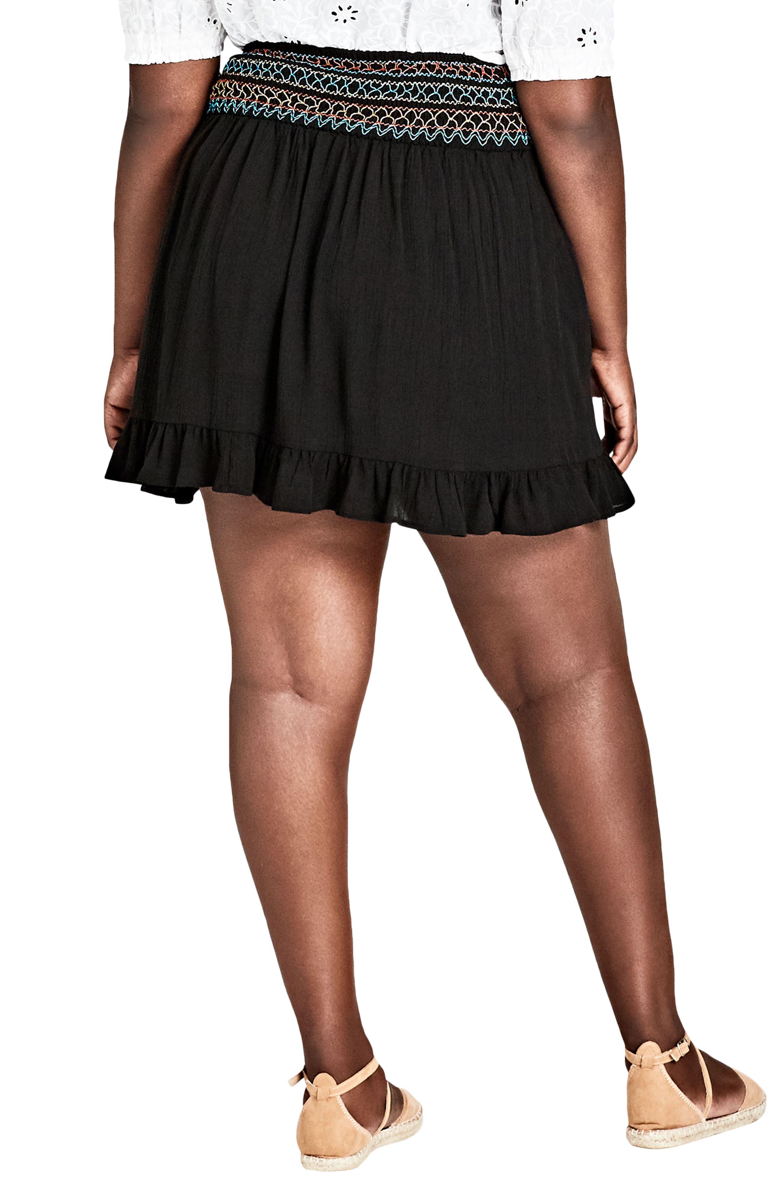 Makana Skirt,                             Alternate thumbnail 2, color,                             BLACK