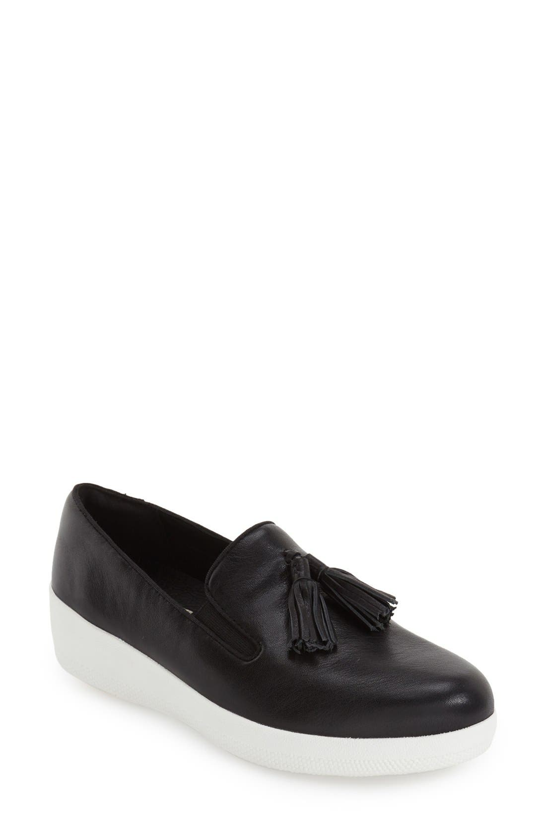 Tassle Superskate Wedge Sneaker,                         Main,                         color, 001