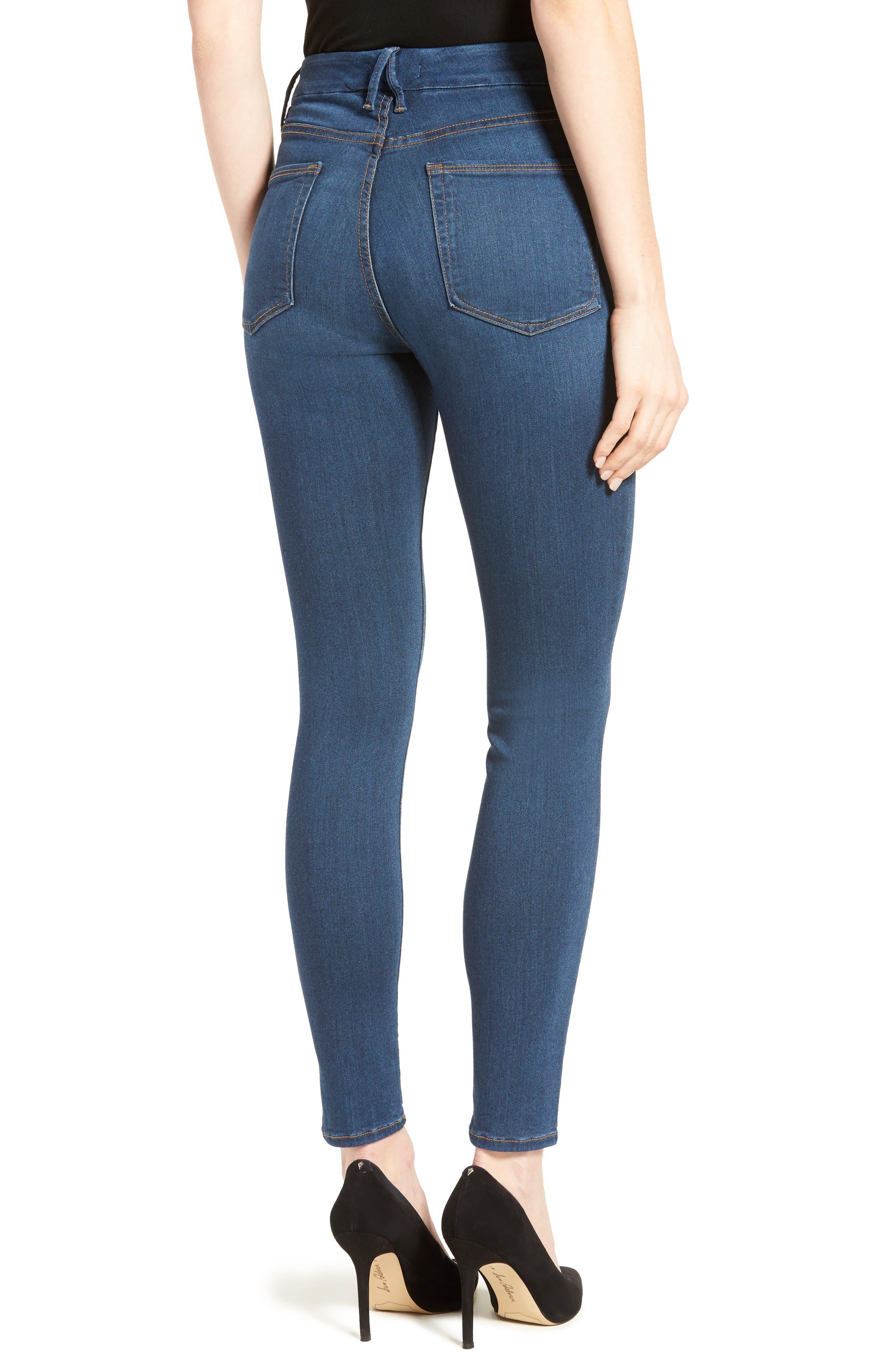 Good Waist High Rise Skinny Jeans,                             Alternate thumbnail 3, color,                             BLUE013