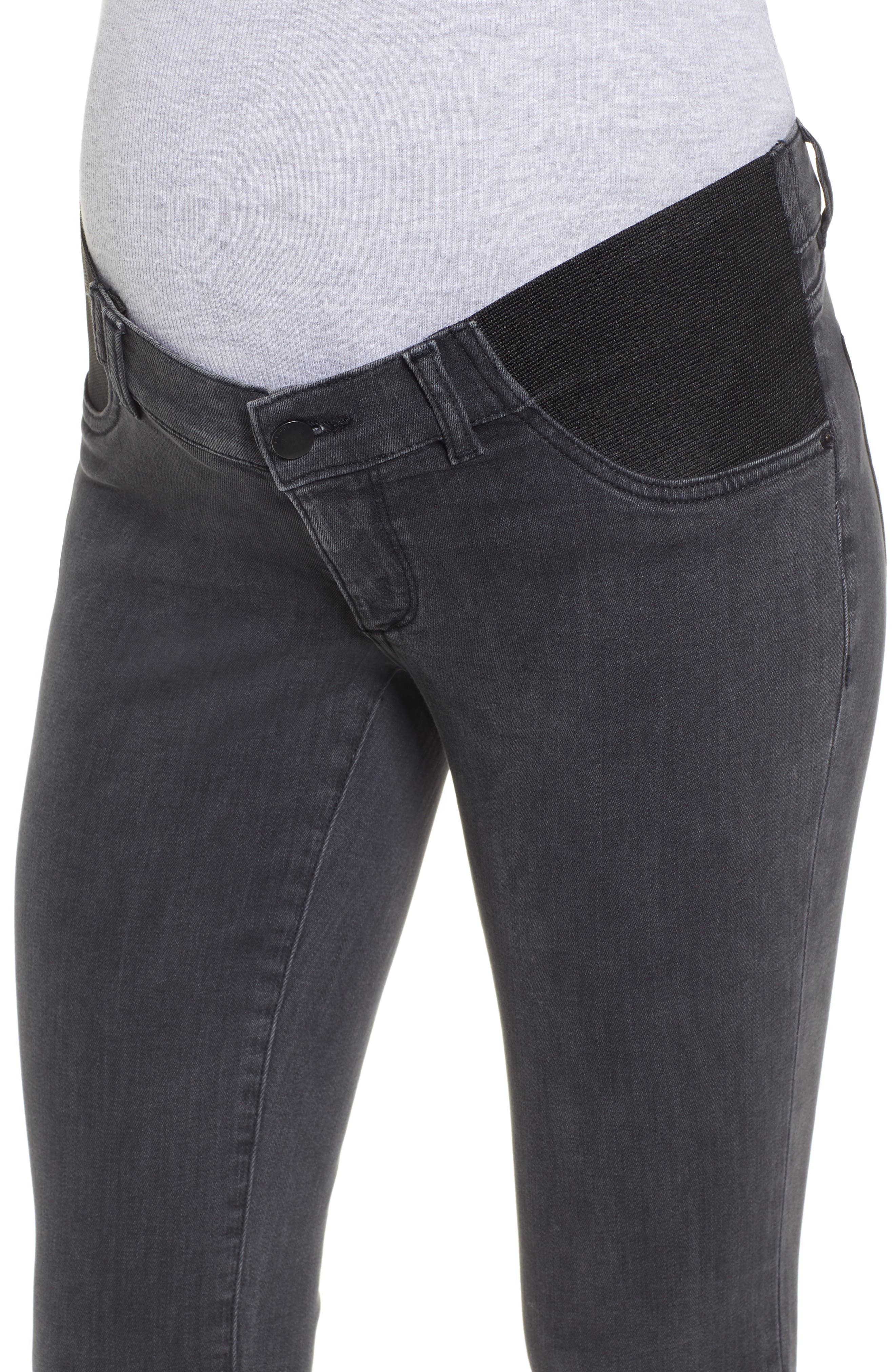 Florence Maternity Skinny Jeans,                             Alternate thumbnail 4, color,                             FRISCO