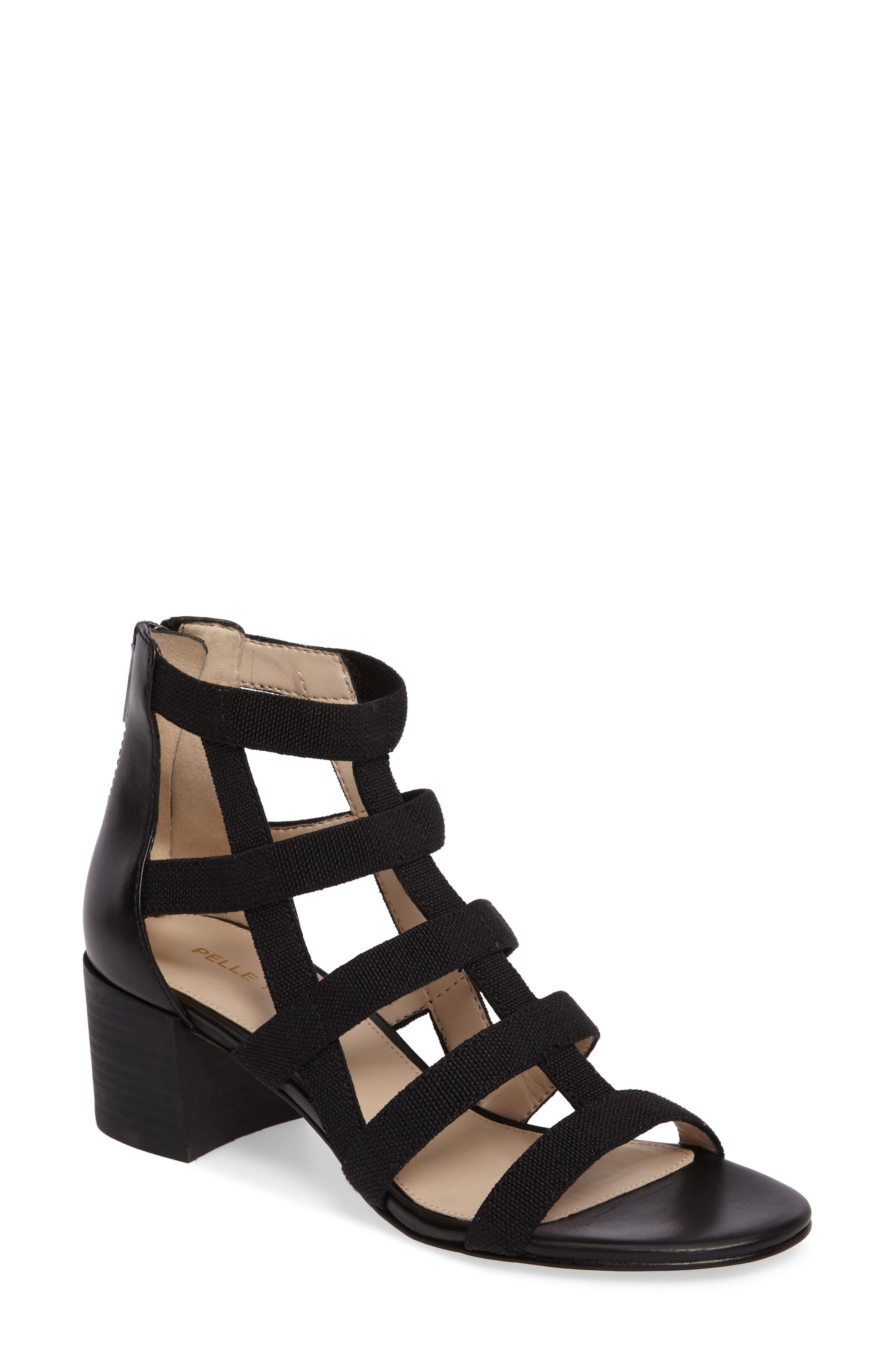 Unkar Block Heel Sandal,                             Main thumbnail 1, color,                             001