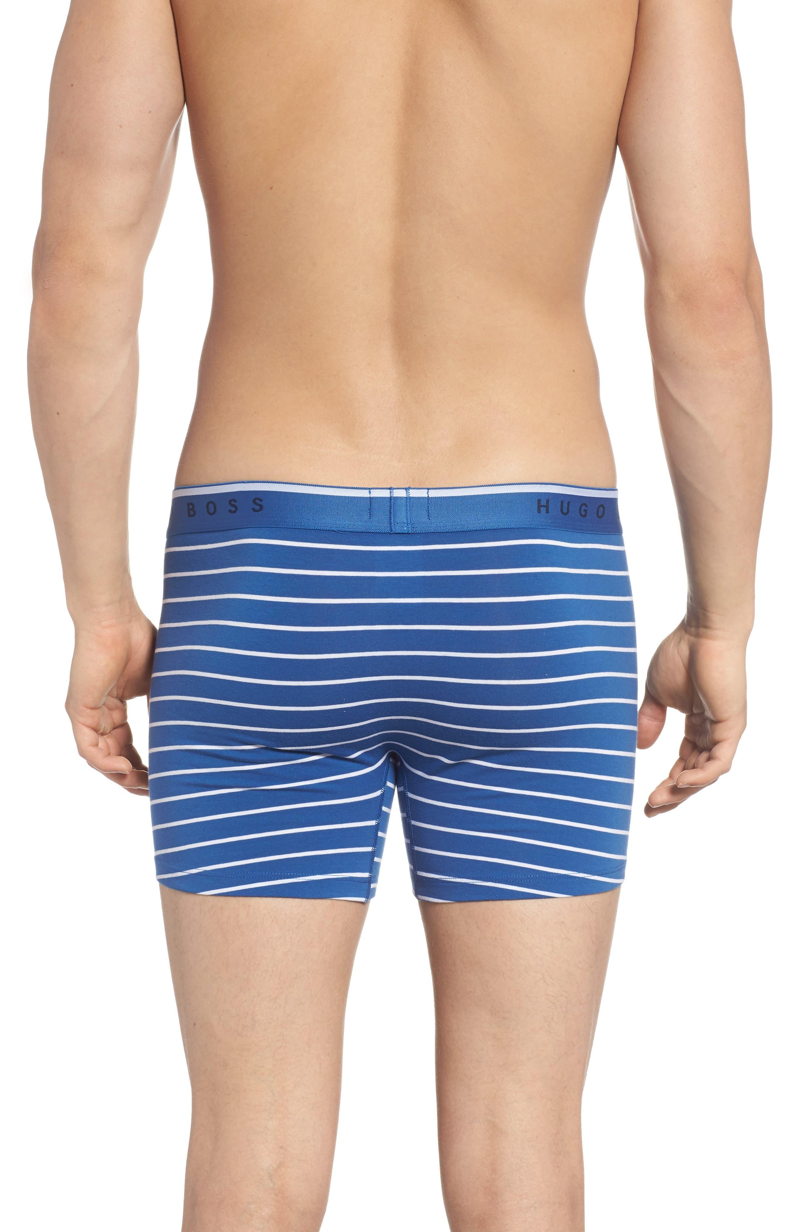 Stripe Boxer Briefs,                             Alternate thumbnail 2, color,                             BLUE