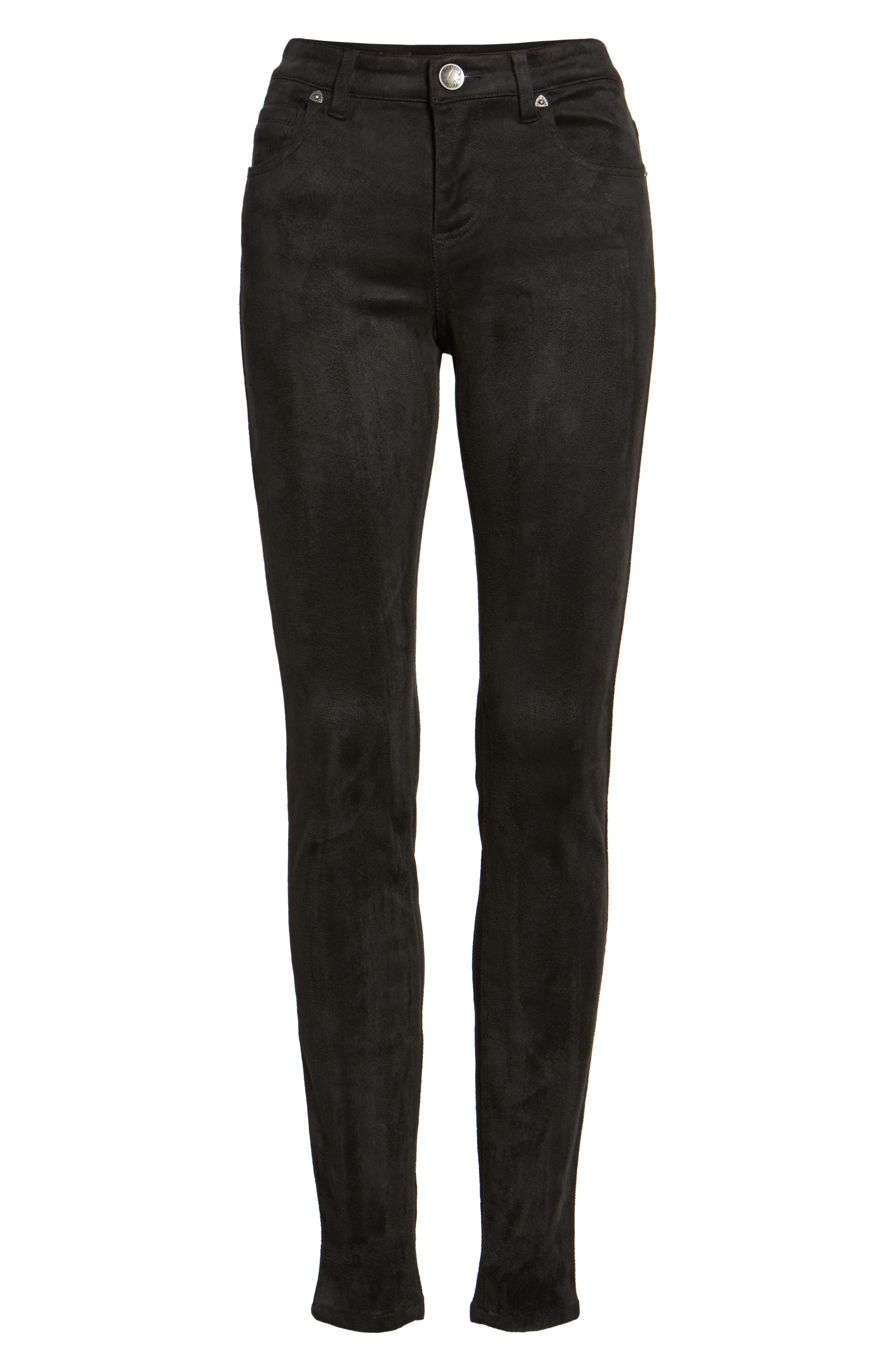 Mia Faux Suede Skinny Jeans,                             Alternate thumbnail 6, color,                             002