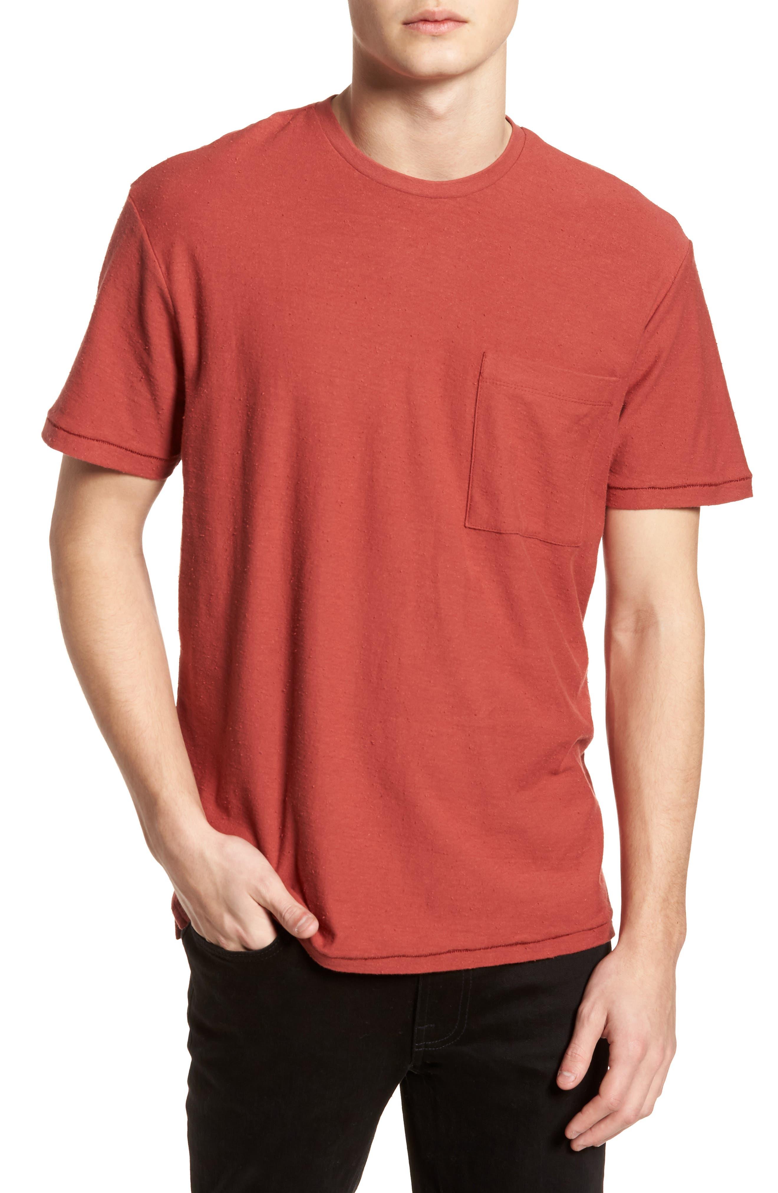 Nep Cotton Pocket T-Shirt,                         Main,                         color,