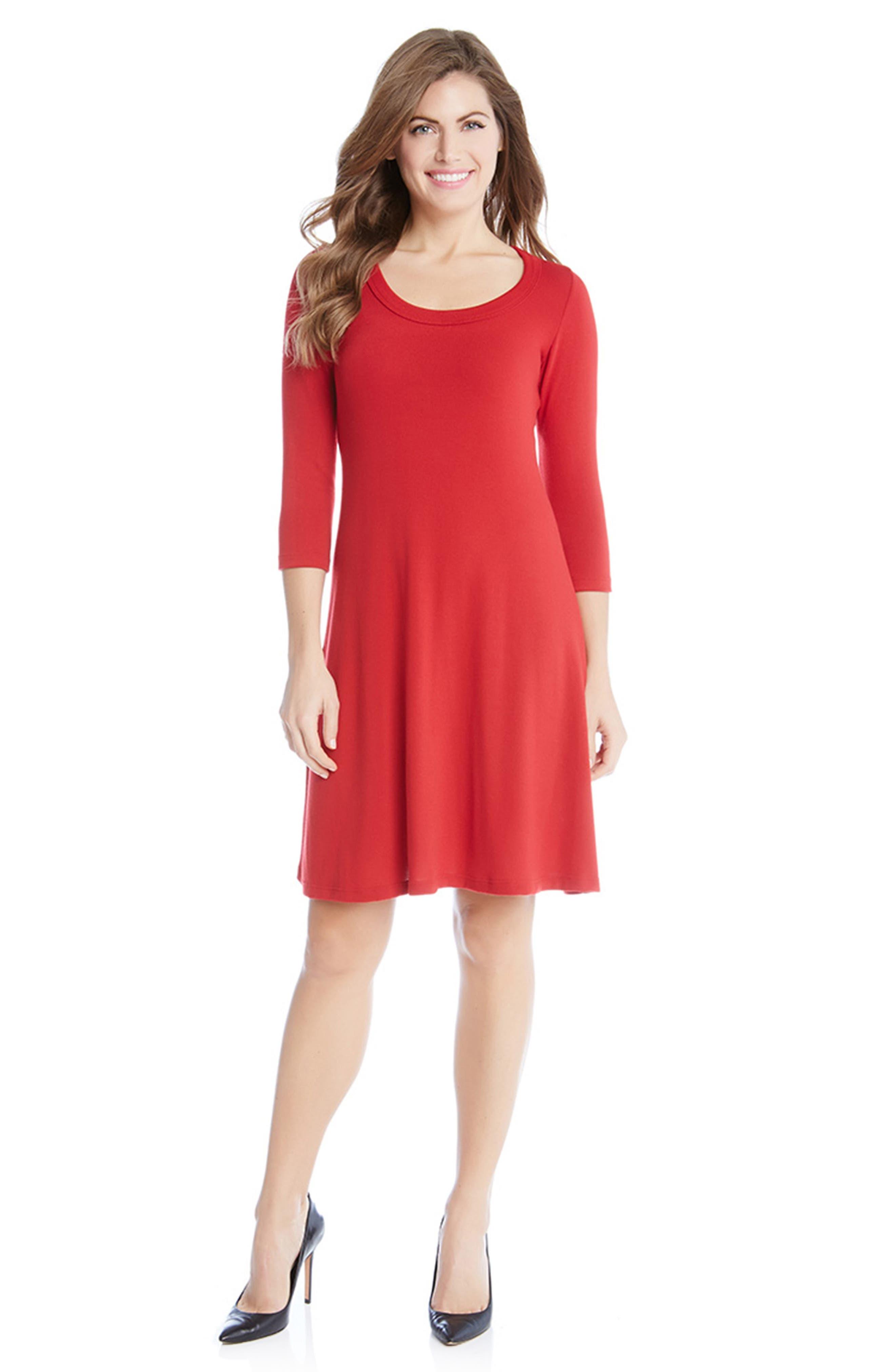 A-Line Sweater Dress,                             Alternate thumbnail 3, color,                             600