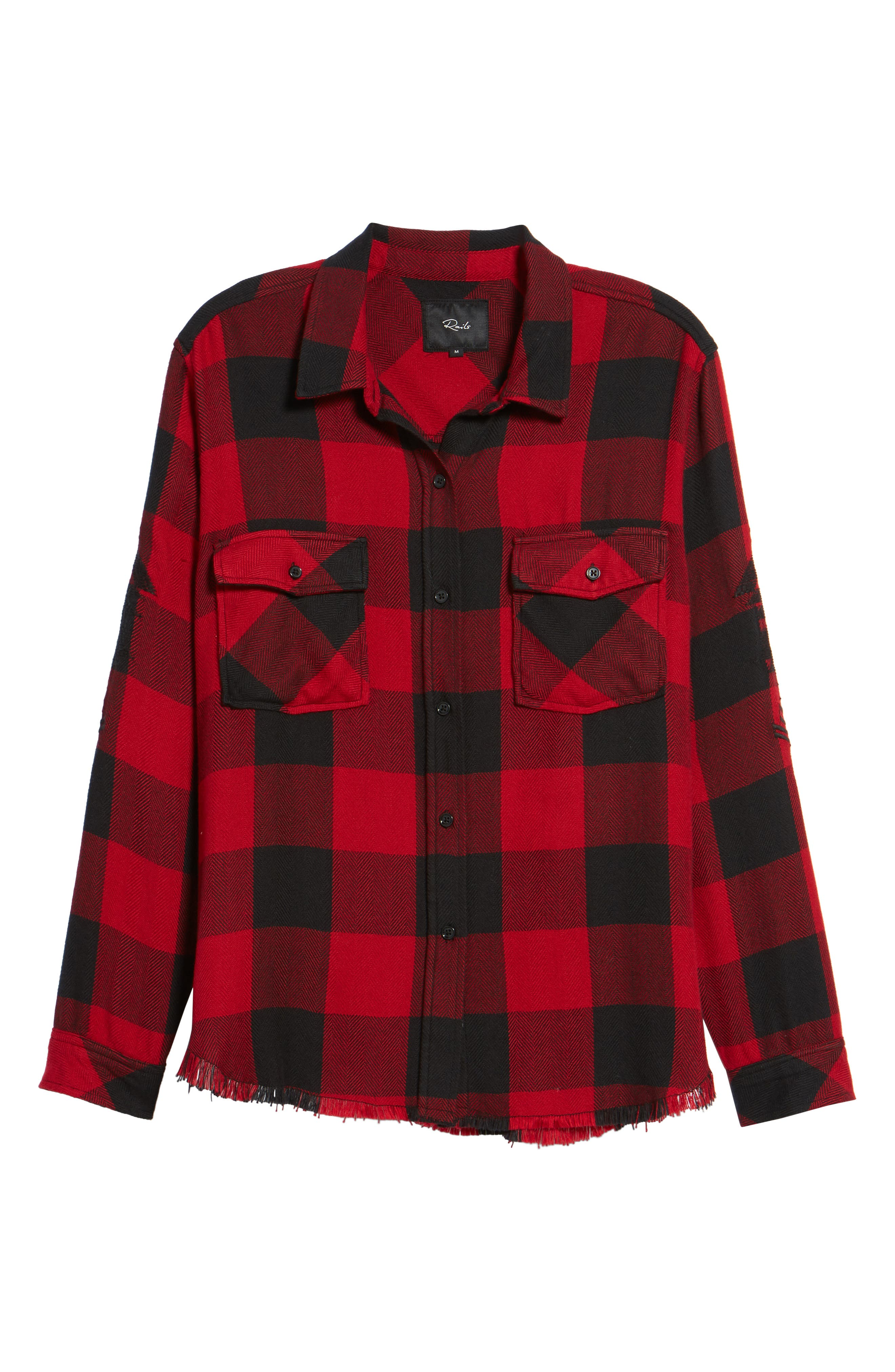 Larsson Embroidered Flannel Shirt,                             Alternate thumbnail 6, color,