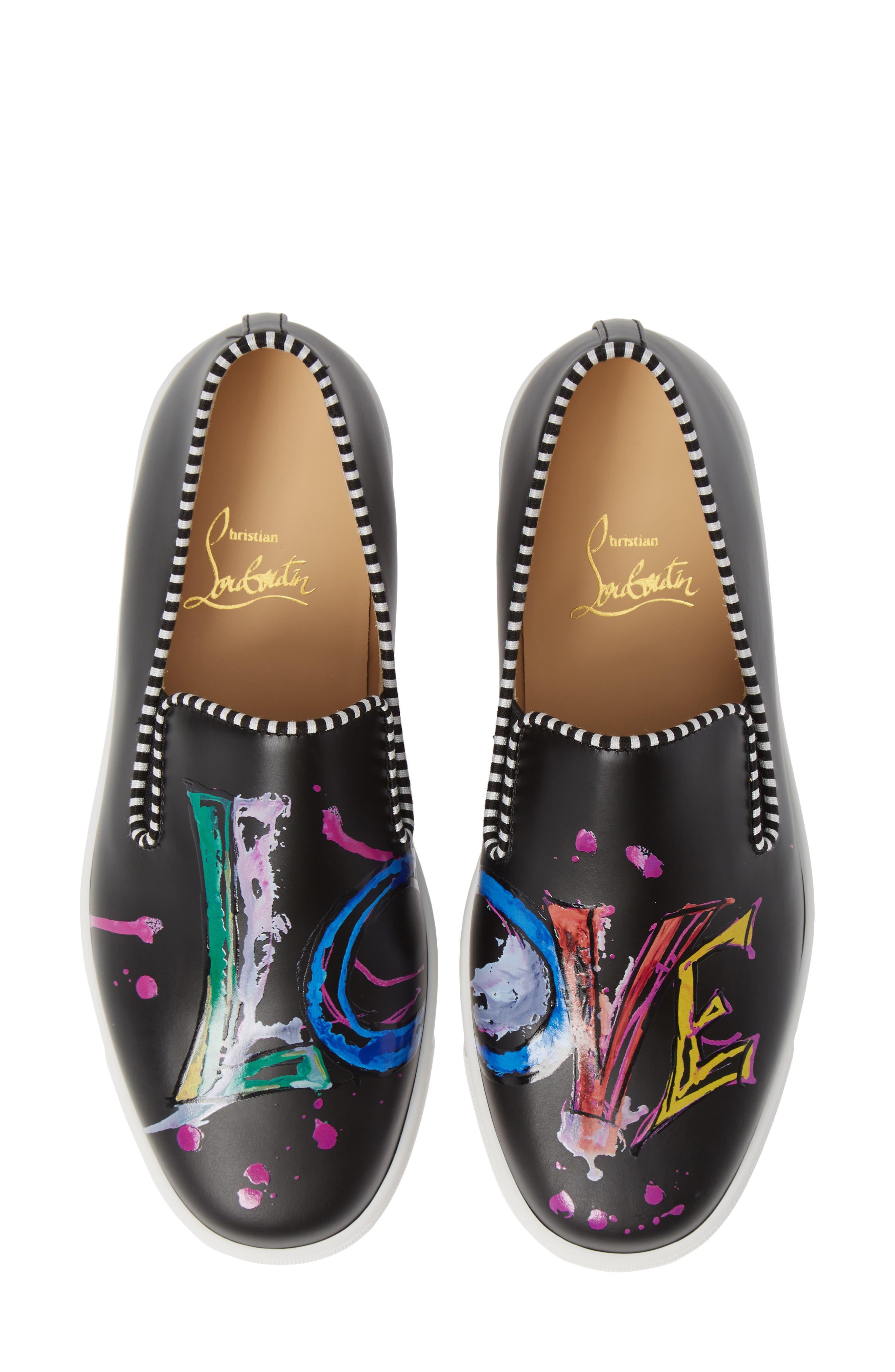 Loubi Love Slip-On Sneaker,                             Main thumbnail 1, color,                             BLACK
